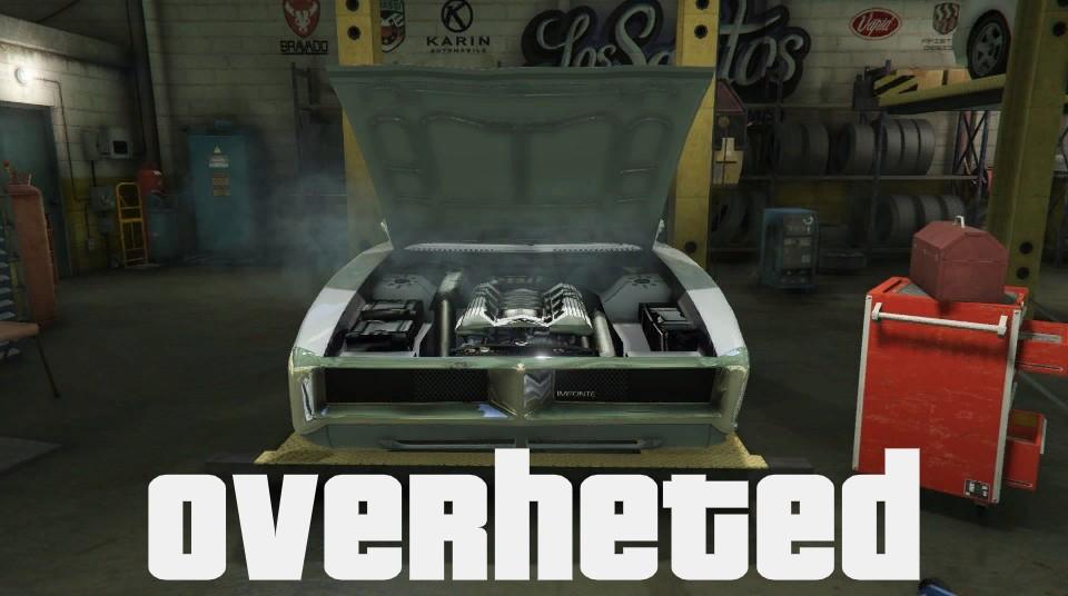 Overheated my engine on GTA 5 :(