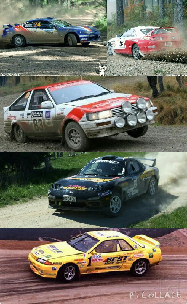 JDM legends used as rally cars...
