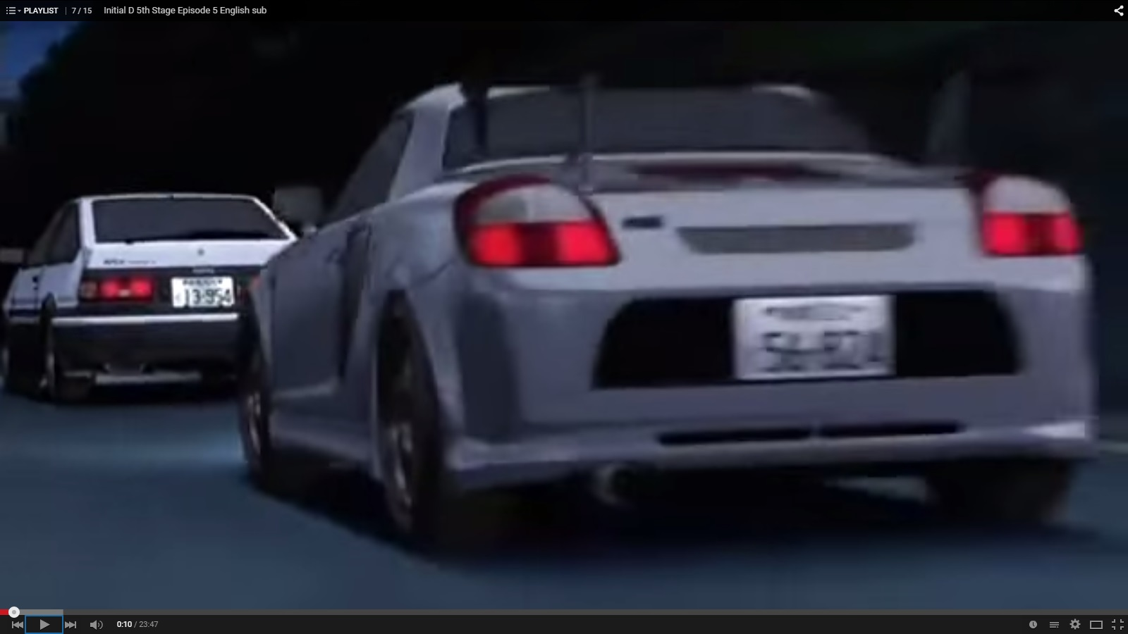 Just Watched Initial D The Car At The Back Of The Trueno