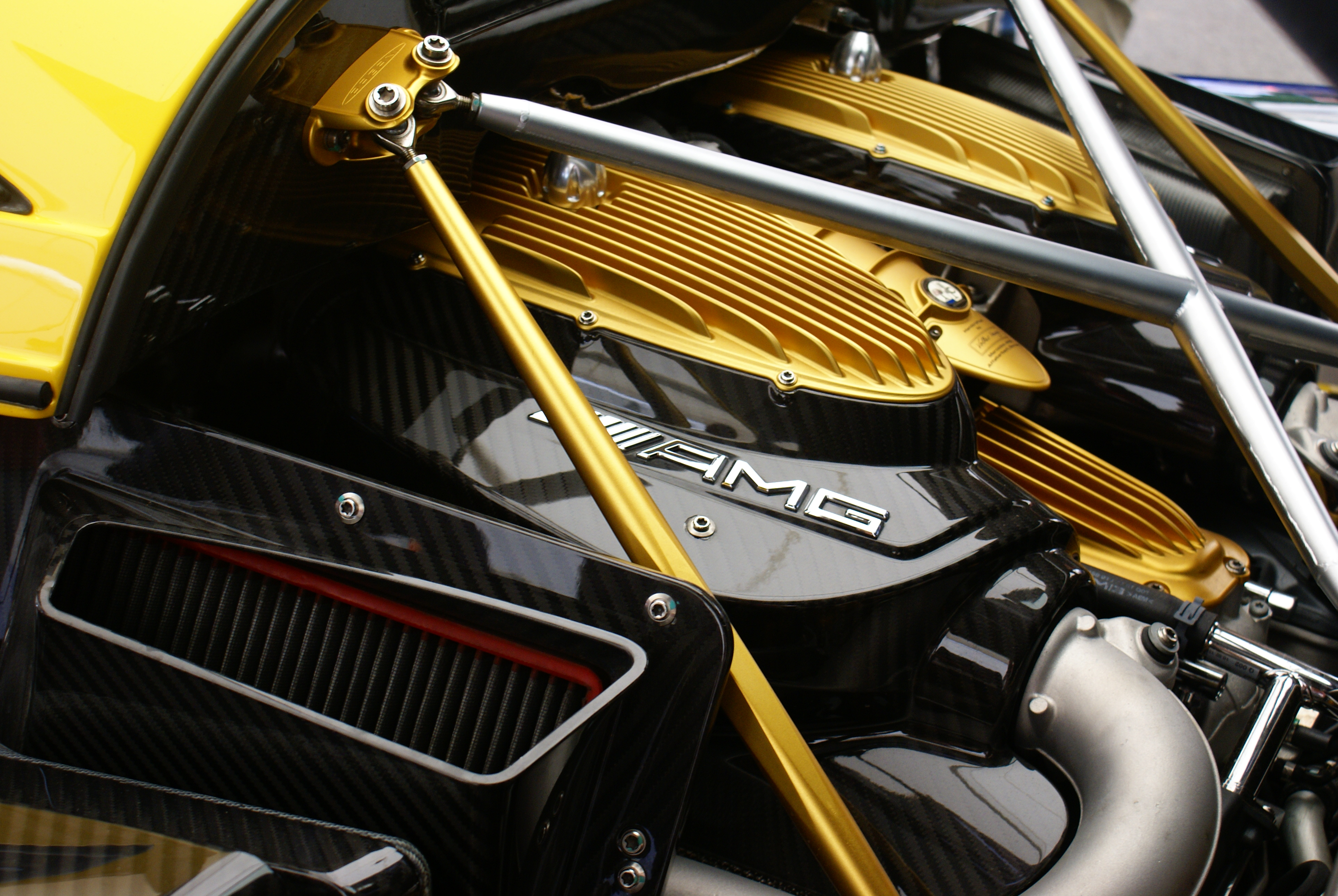 the beautiful engine bay of the pagani huayra for #photofriday