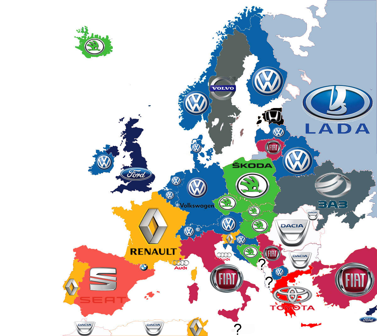 Brands Of The Best Selling Cars In Europe