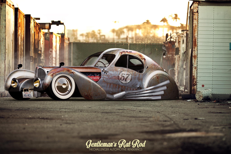 40 Million Worth Bugatti Type 57 Rat Rod Photoshop Render By Me