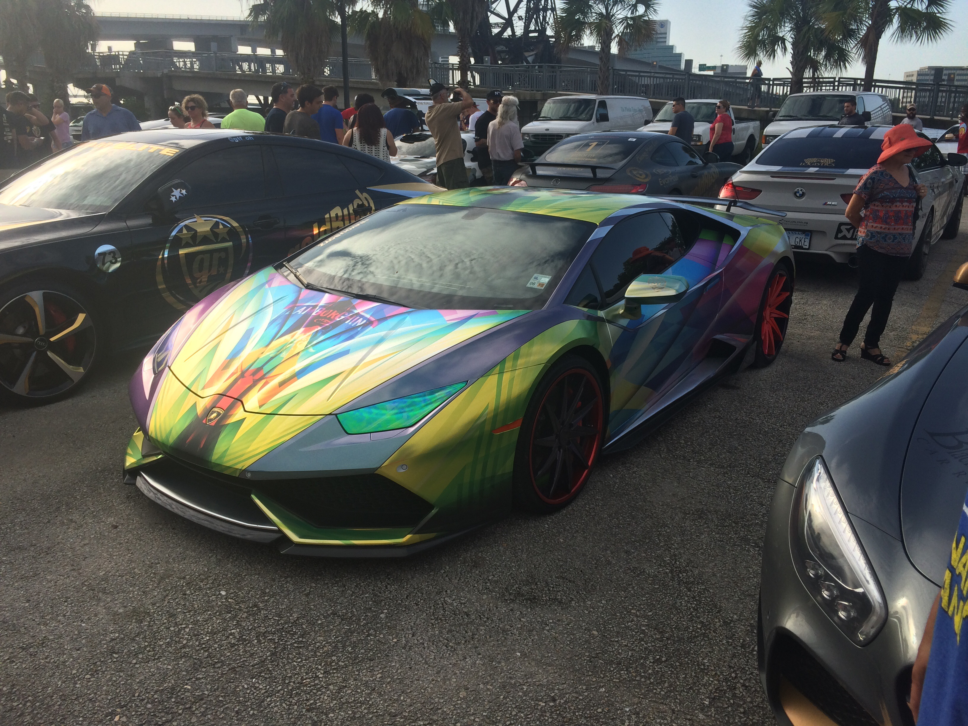 Amazing Wrap On A Huracan From Gold Rush Rally 7 In Jacksonville Fl