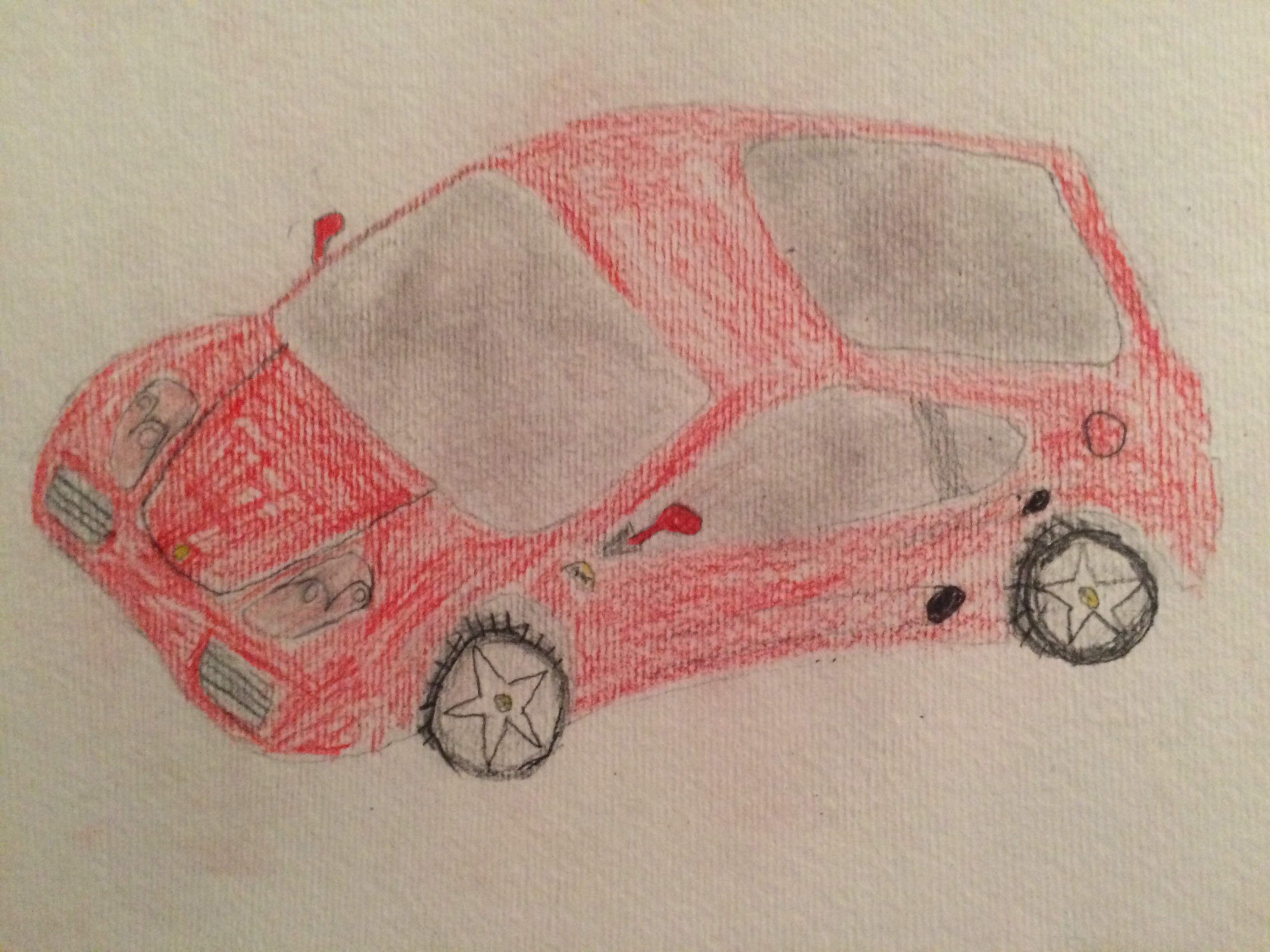 My Sad Attempt At Drawing A Ferrari 360 Any Suggestions On An Easier Car To Draw