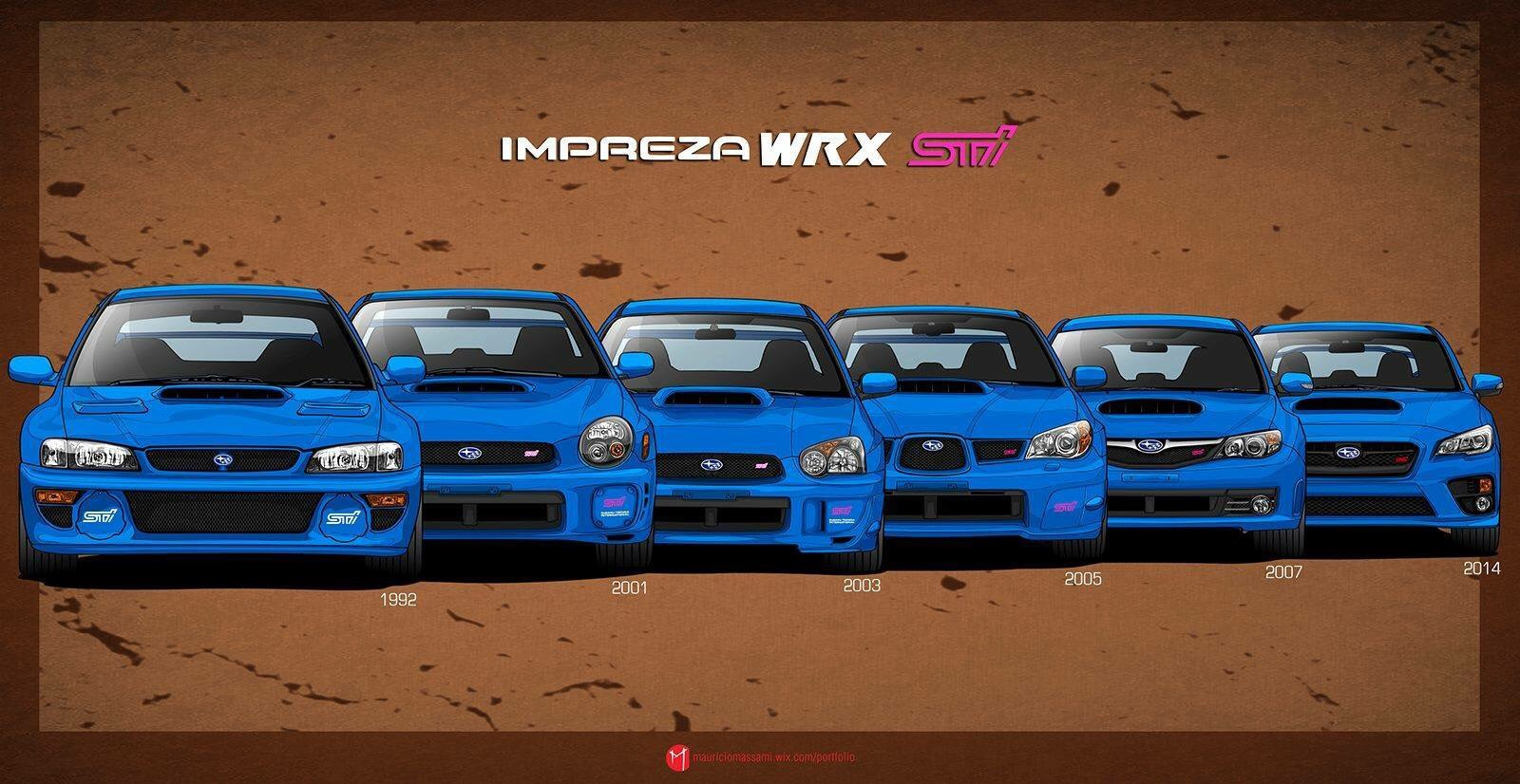 Generations of the WRX STi are so good!