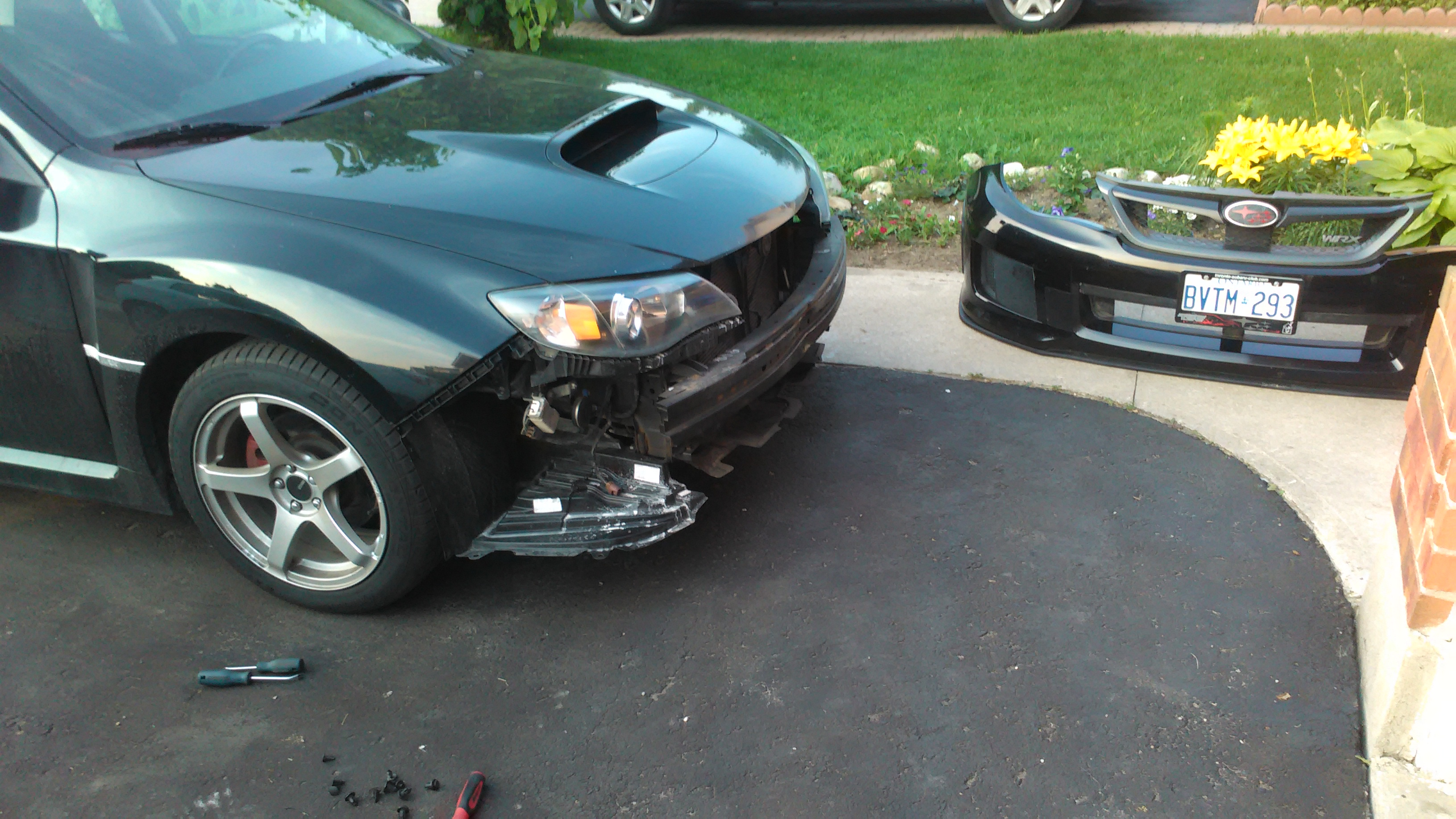 I took my front bumper cover off, to see why the bumper was \