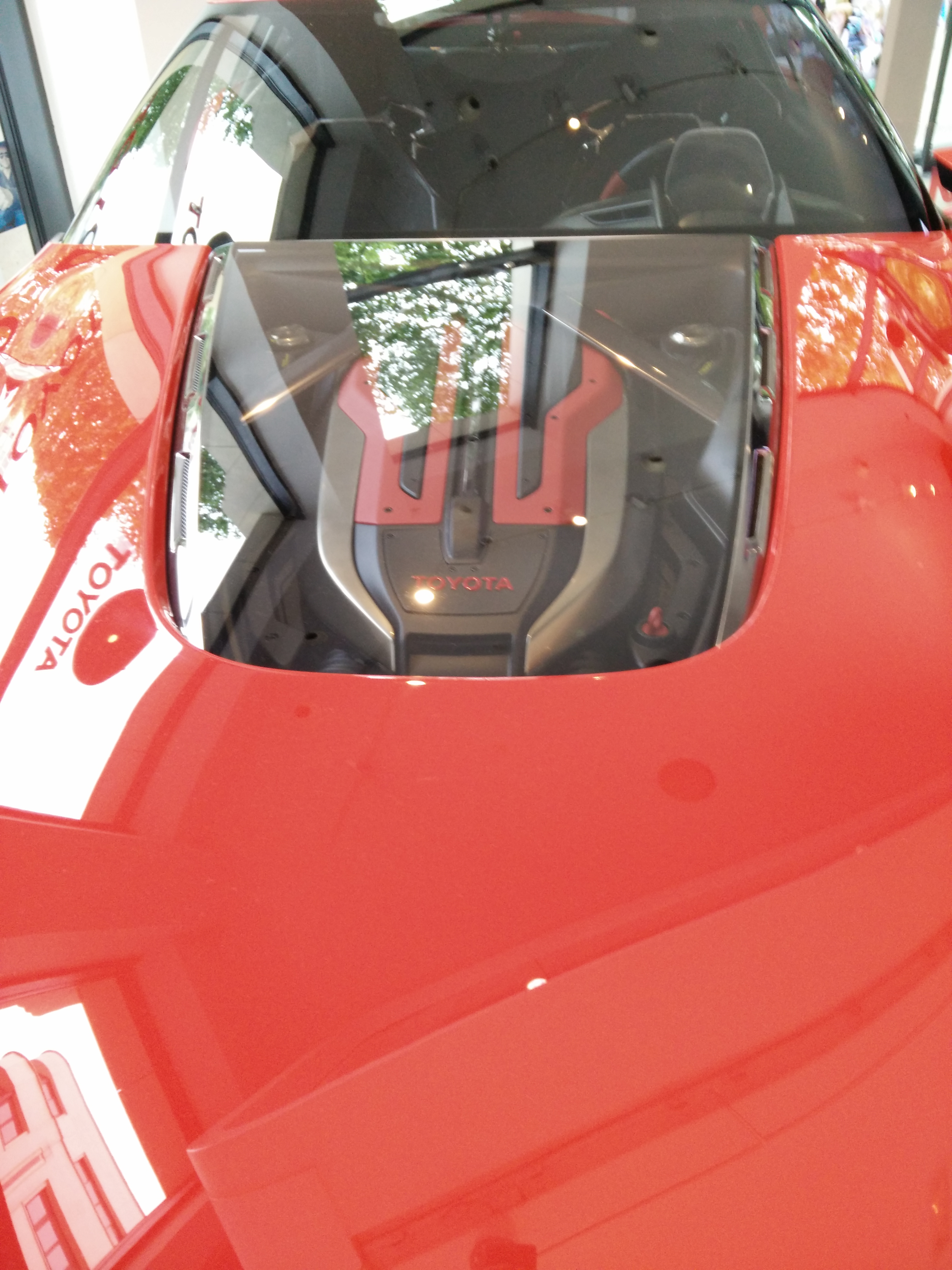 The Toyota Ft1 concept is exposed in Paris at the champs elysées