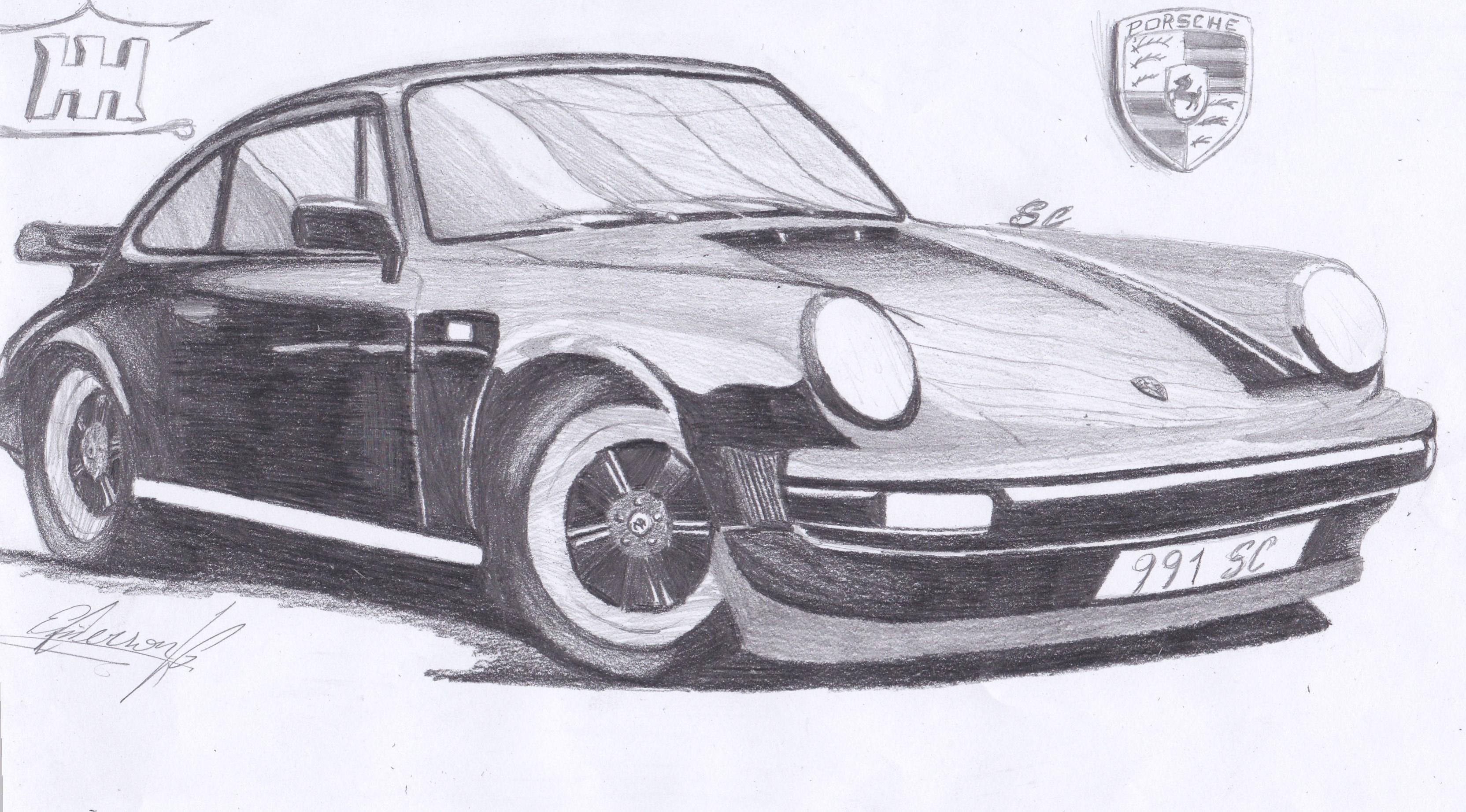My Draw Porsche 911sc For Carthrottle