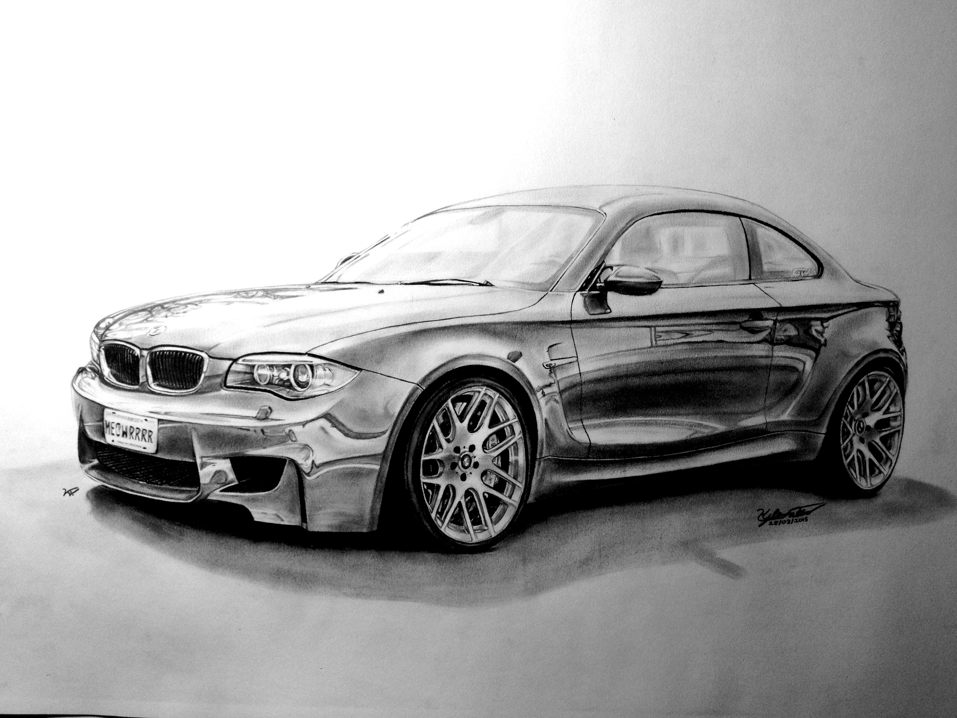 Bmw 1m Drawing I Did For A Friend 18 X24 Pencil