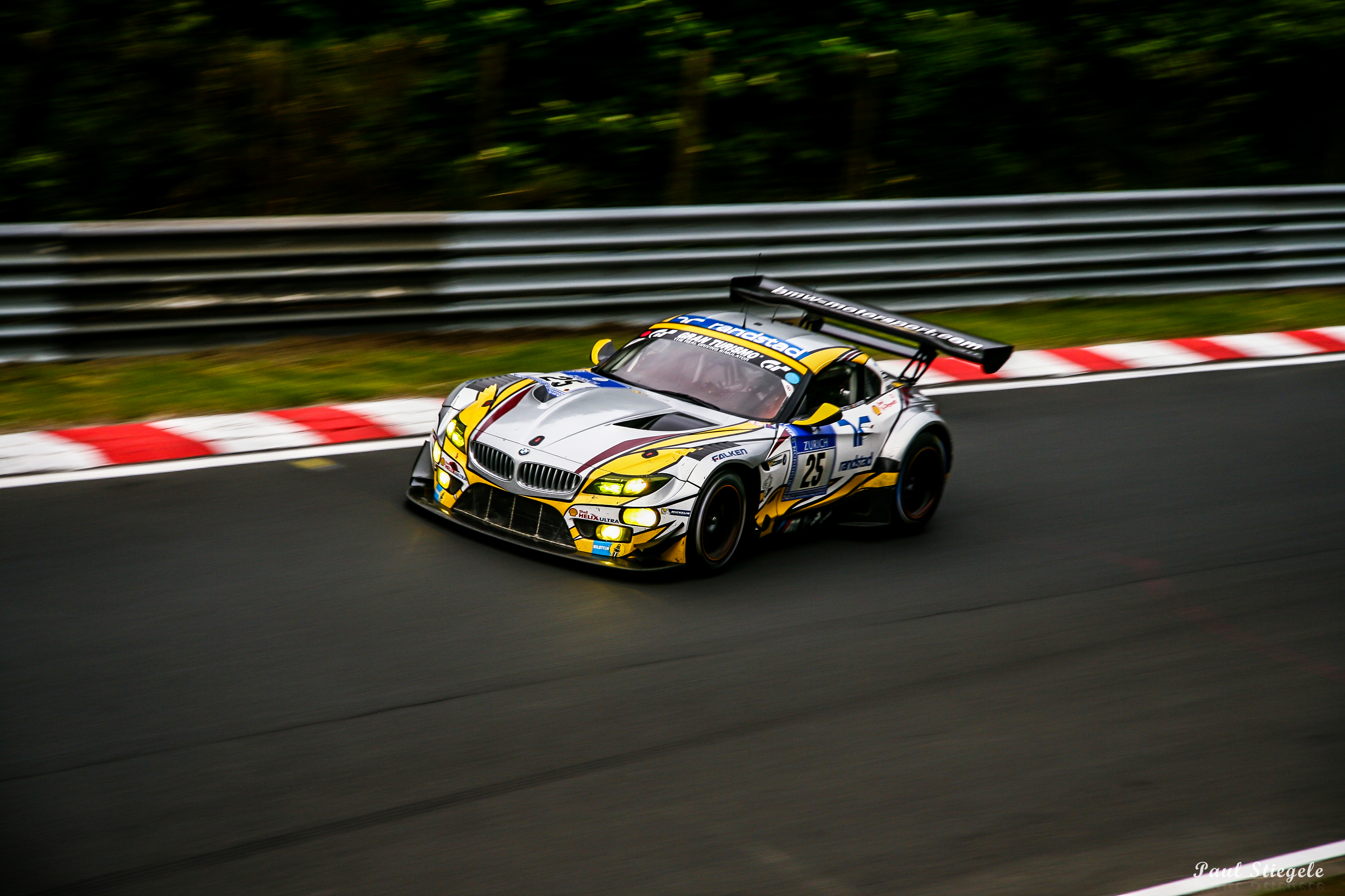 Bmw Z4 Gt3 On The Famous N 252 Rburgring Nordschleife While