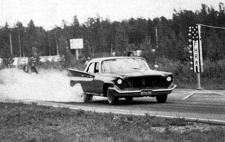 Old Drag Racing Photo From Finland 1961 Chrysler Newport