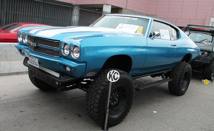 Chevelle on a truck frame. Would you drive it?