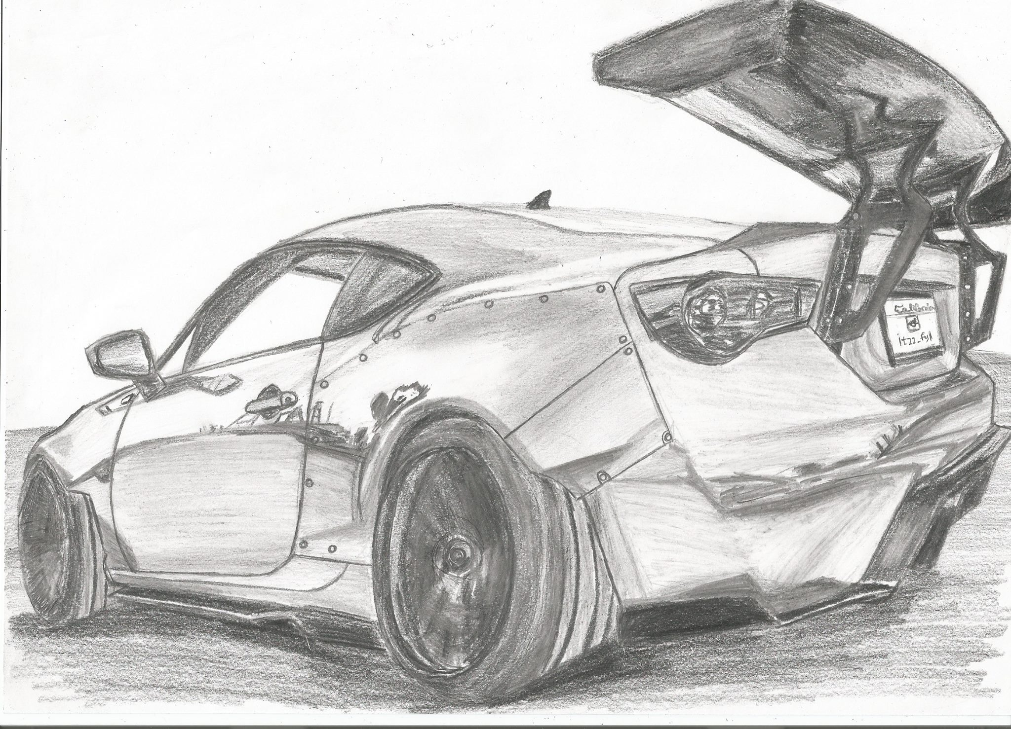 Toyota Gt86 Rocket Bunny Kit Drawing Made By Me Hope You