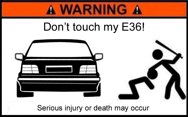 New Sign For Your Garage BMW E - Bmw car signs warning