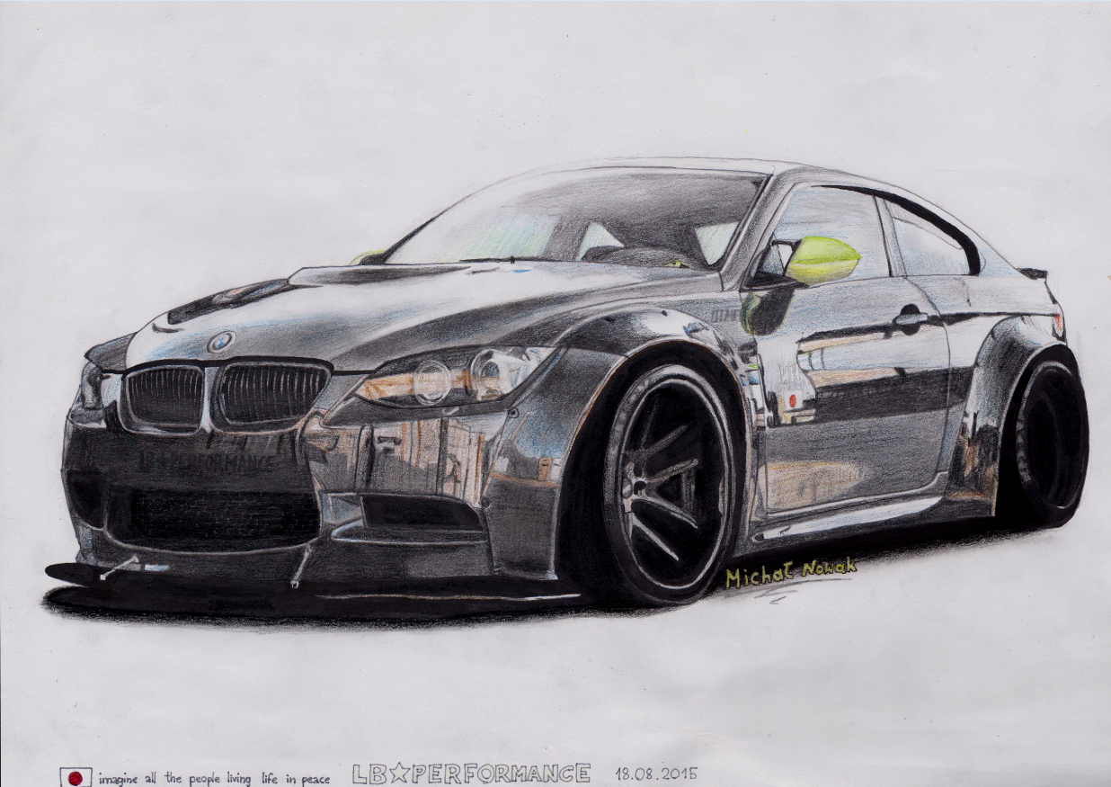 My New Drawing Bmw E92 M3 Lb Performance Hope You Like It