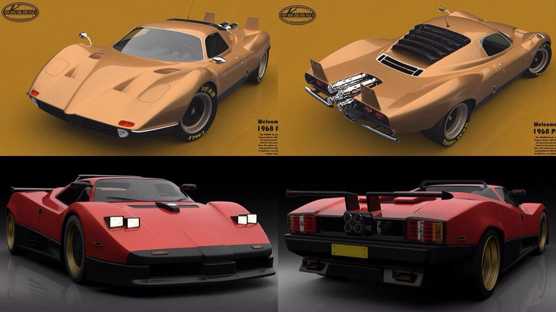 What do you think of these concepts of a 60s/80s Pagani Zonda? Are
