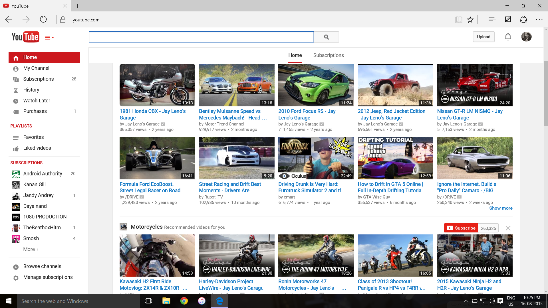 When Your Youtube Homepage Content Is Filled With Car Bike Videos Justpetrolheadthings