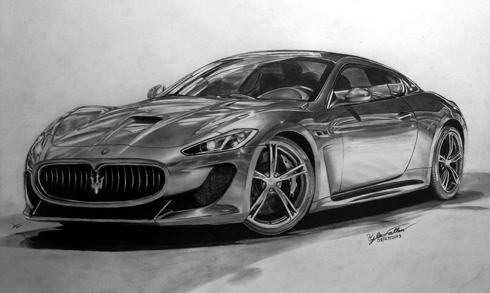 18 Quot X 24 Quot Pencil Drawing From 2 Years Ago Maserati Gran