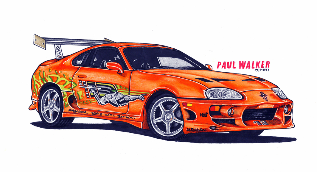 This Is My Drawing Of Paul Walker Toyora Supera From Fast