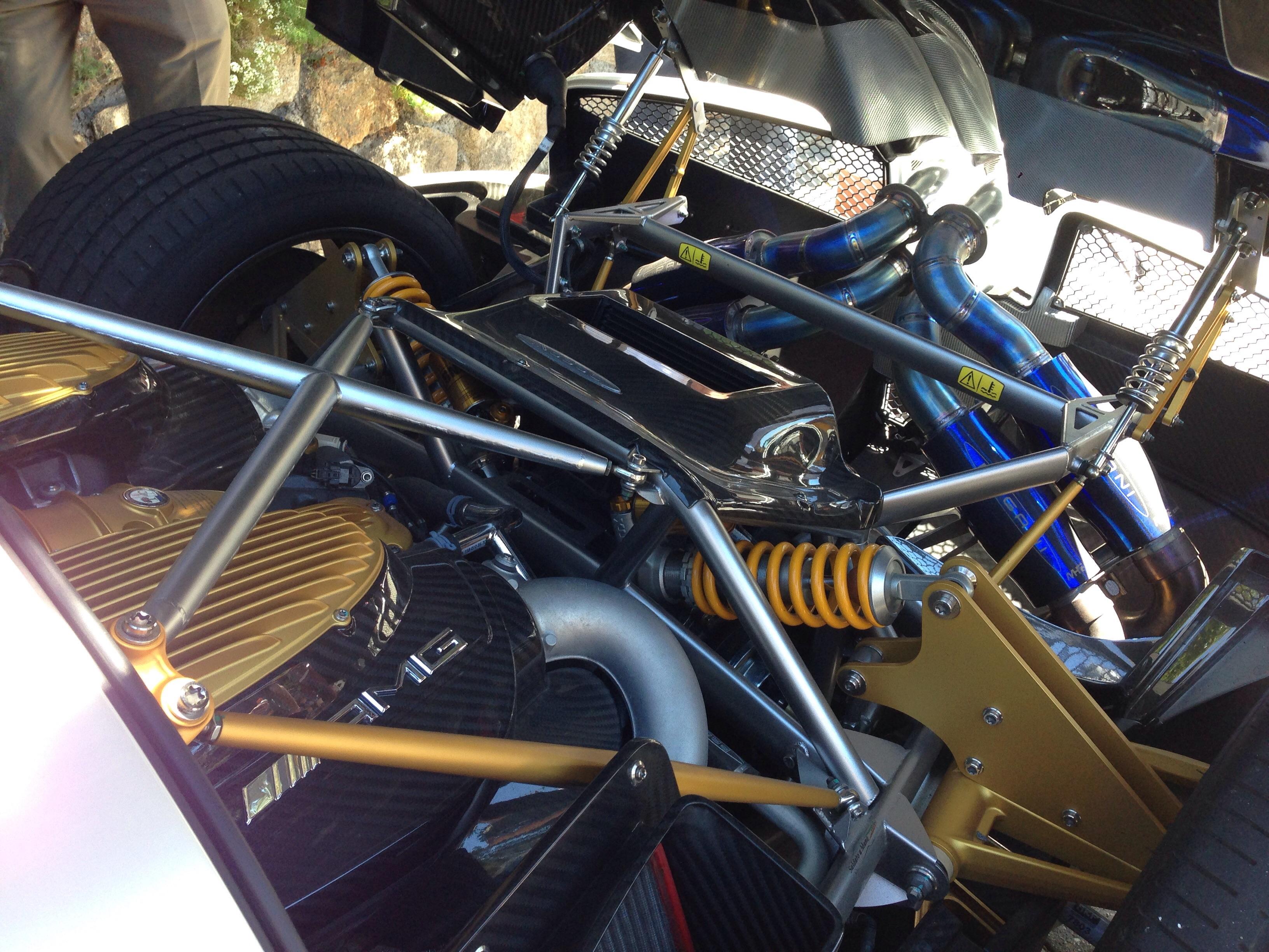 Photofriday Pagani Huayra Engine Bay