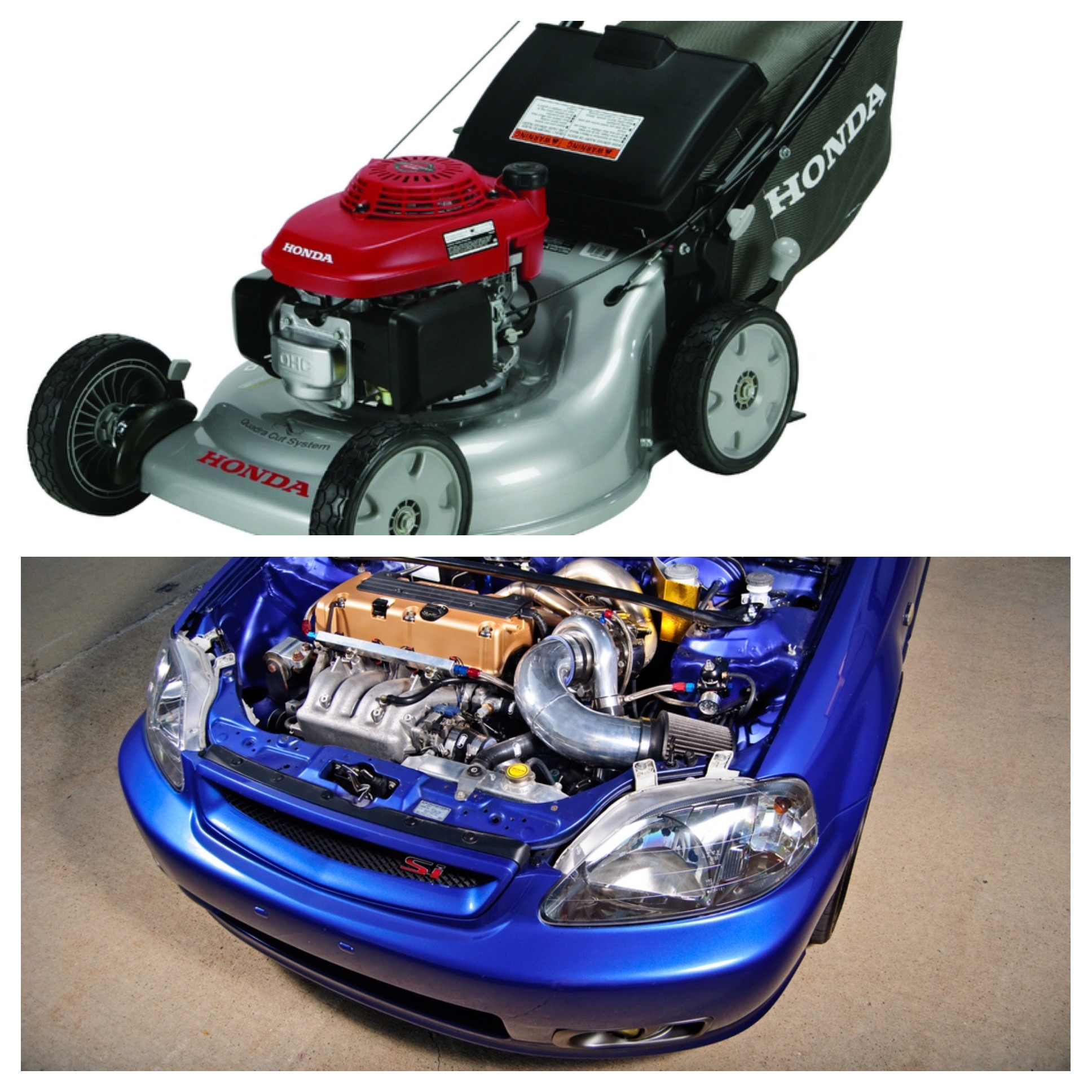 This Is Not A Joke Bashing Hondas Im Showing The Difference For People Who Dont Know Between Car And Lawn Mower