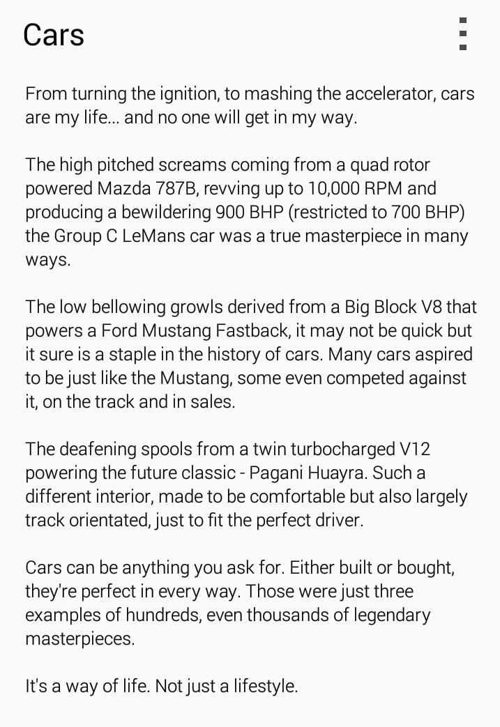 cars analysis