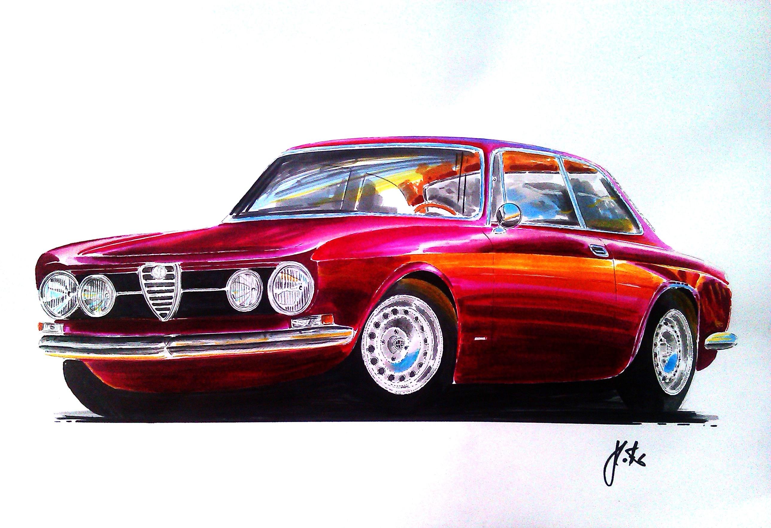 Alfa romeo 1750 gtv car classics - Alfa Romeo 1750 Gtv Car Art
