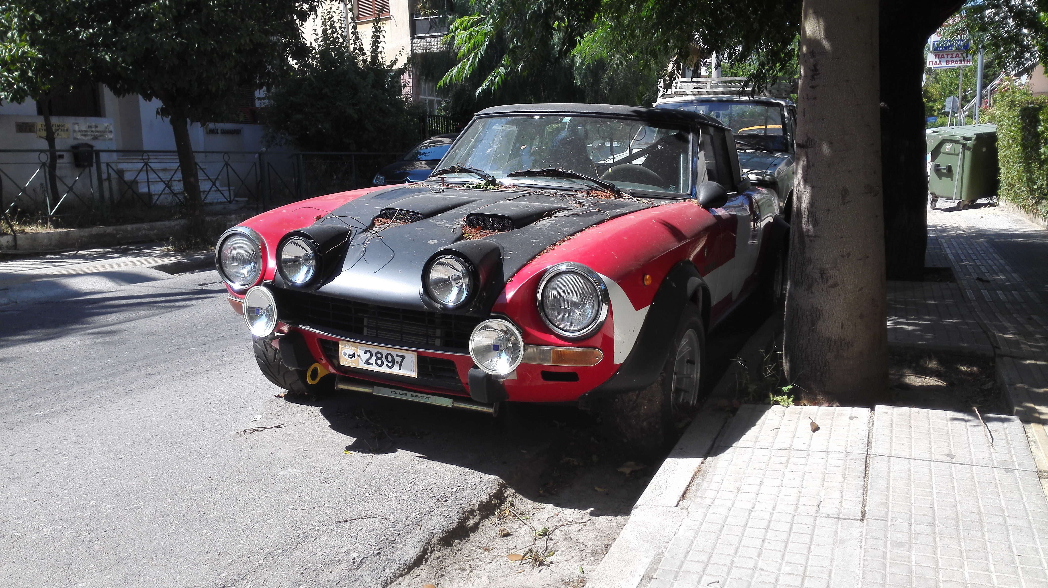 Fiat 124 Spider Abarth Rally Car In The Wild