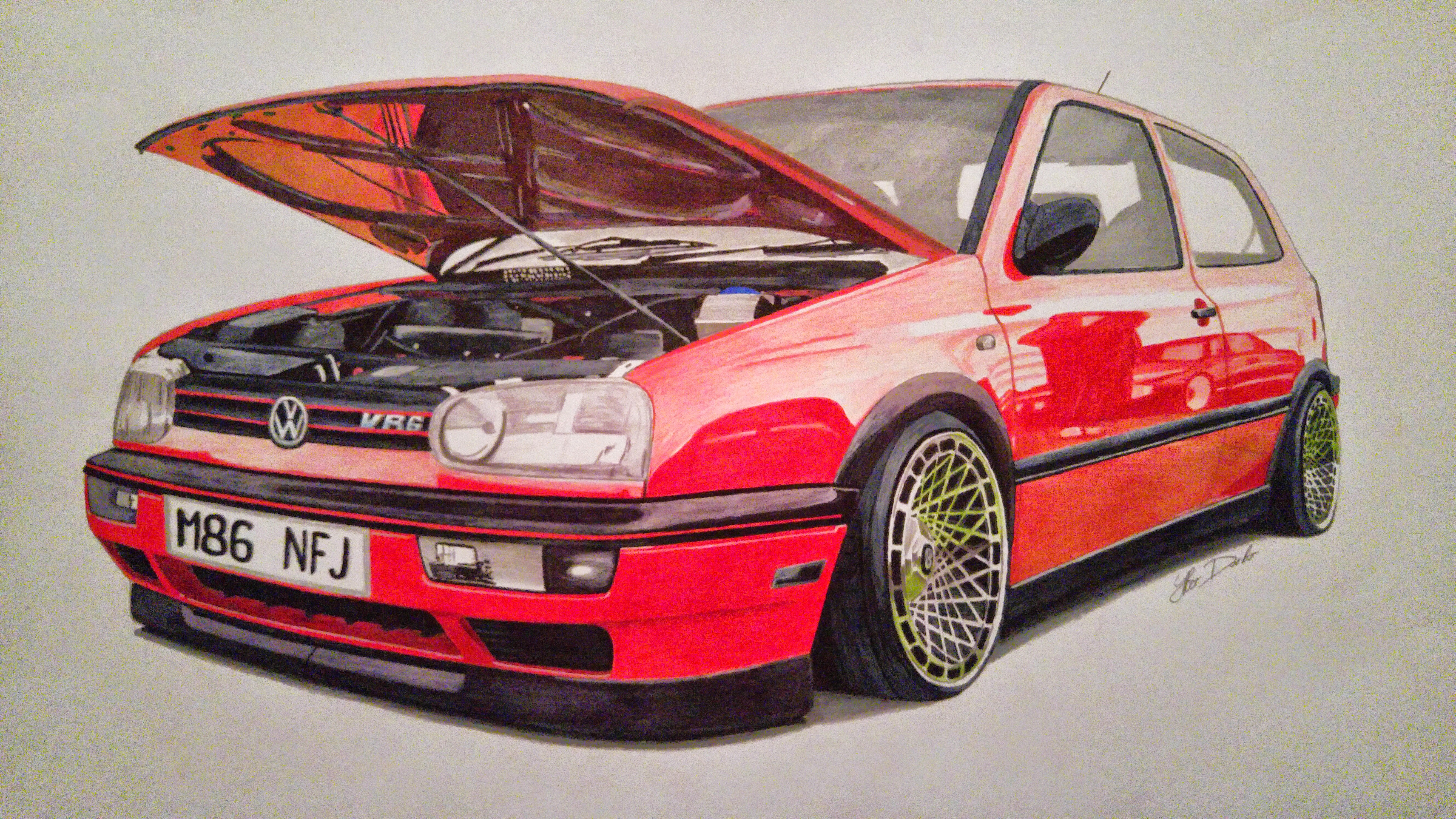 Golf Mk3 Vr6 10 Hours Of Work 50x35cm Fb Page Car