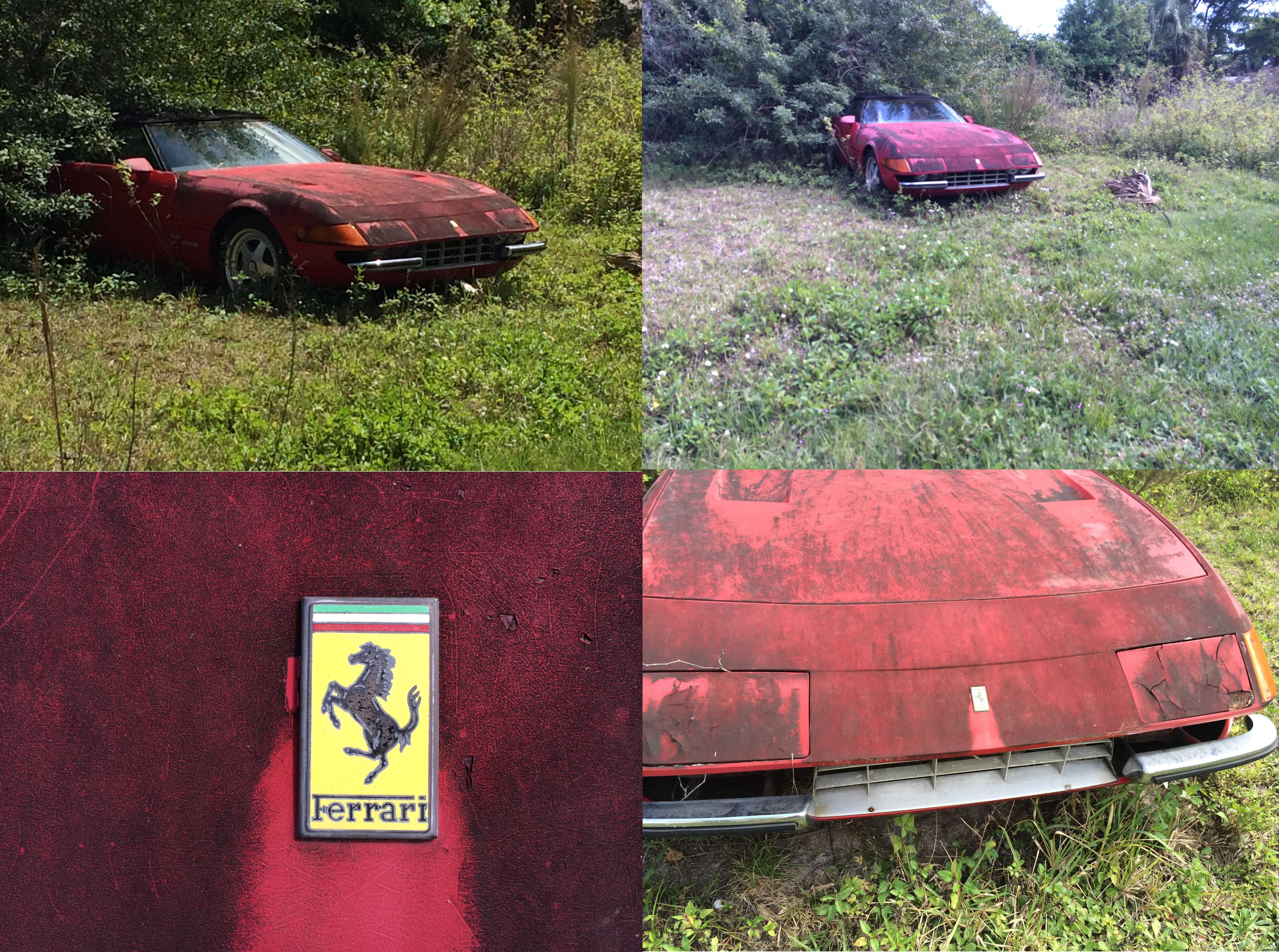 Too Much Pain In This Pic An Abandoned Ferrari Daytona