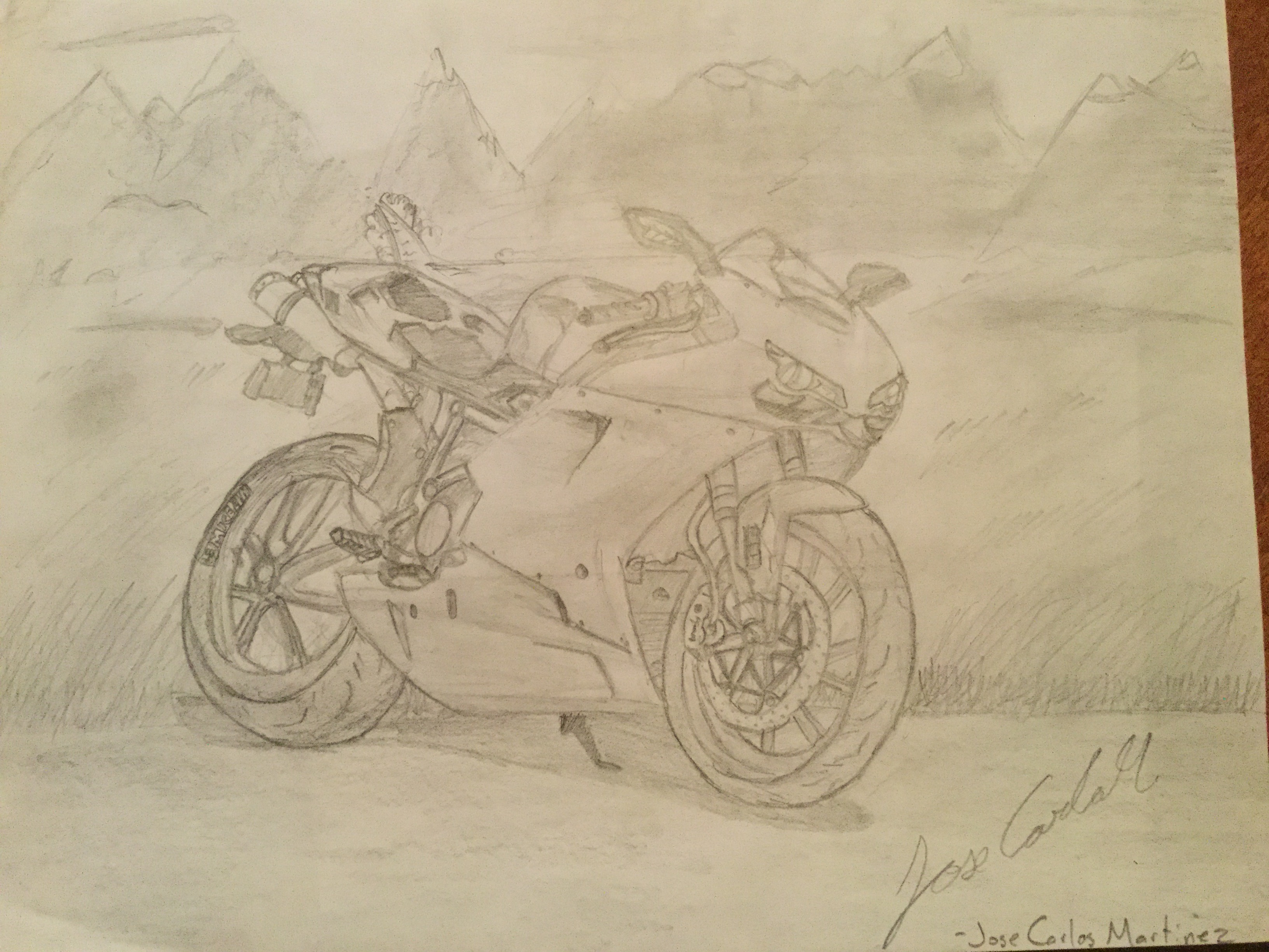 A 2008 Ducati 1198 Drawing By Me With A 2hb Pencil Later I Ll