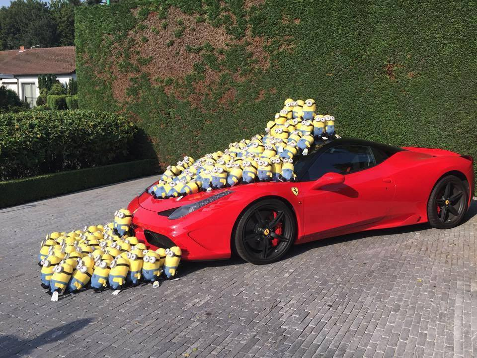 Buy All Minions And Get A Free Ferrari 458 Speciale