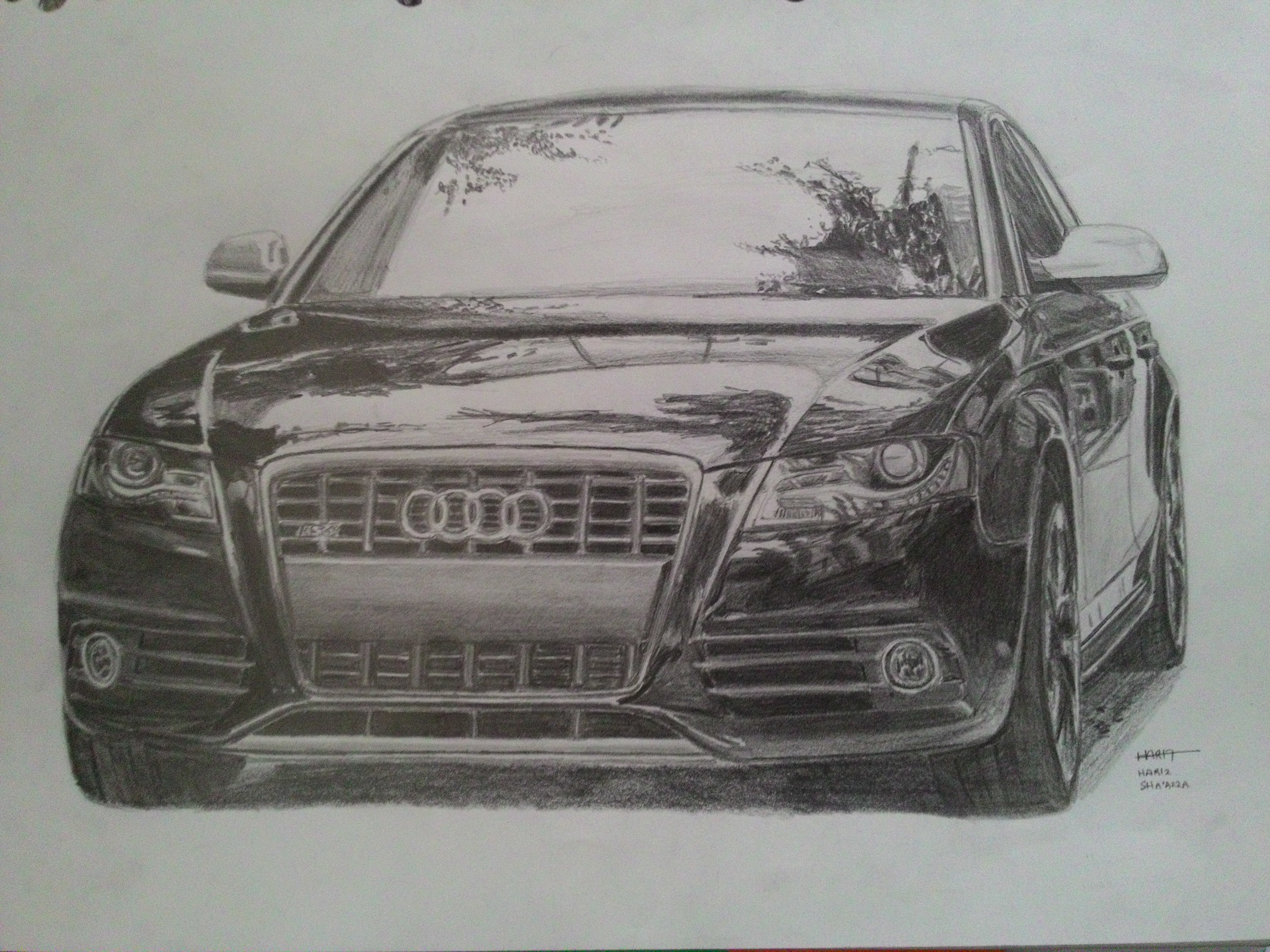 Audi S Drawing - Audi car drawing