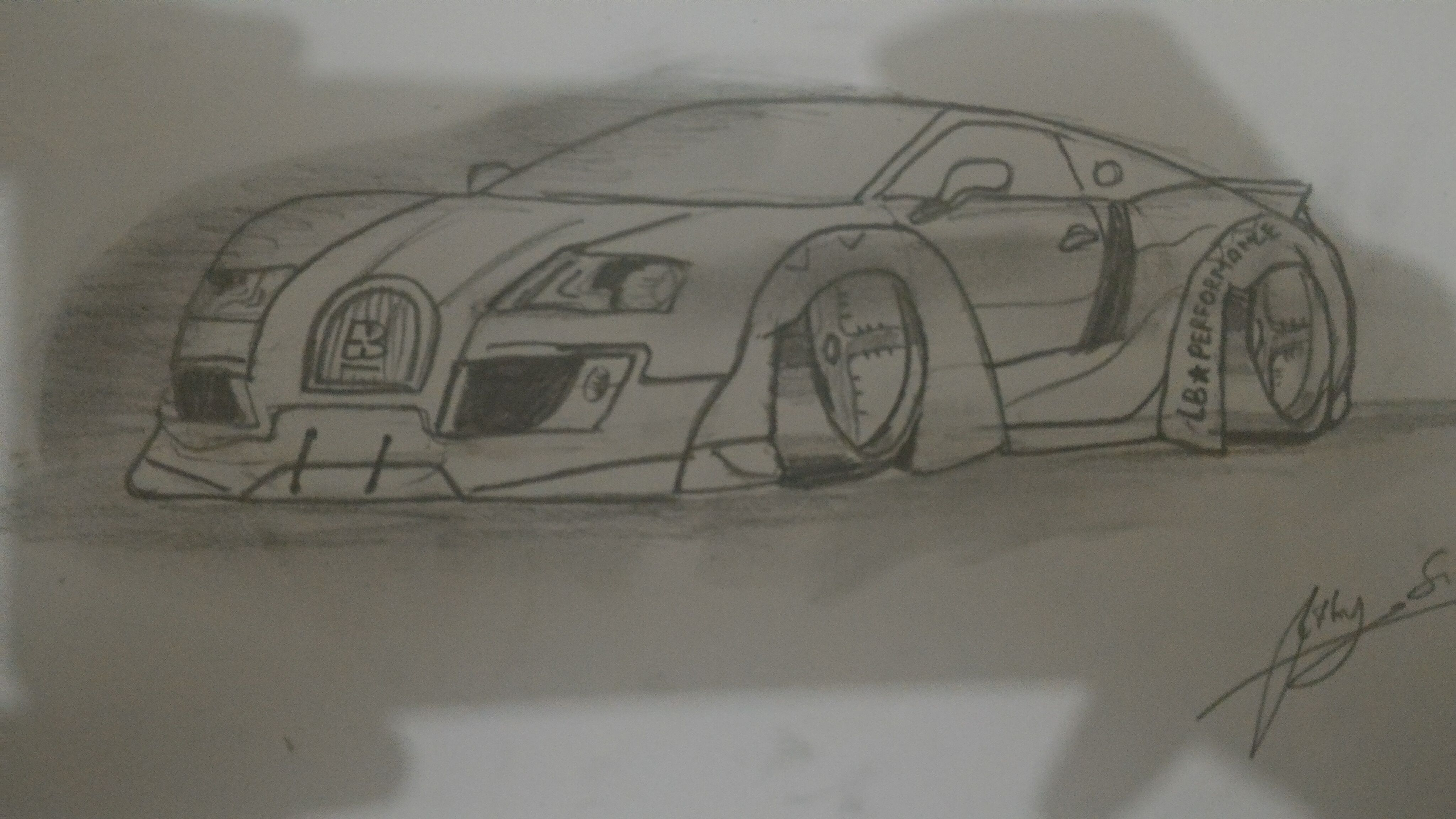 This Is My Drawing Bugatti Veyron Ss With Liberty Walk Design By