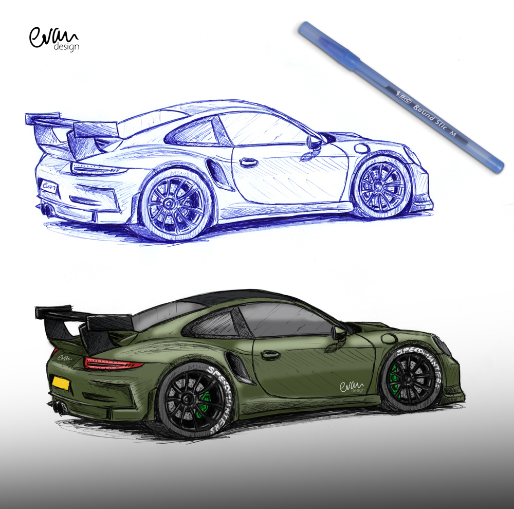 How Do You Draw A Race Car
