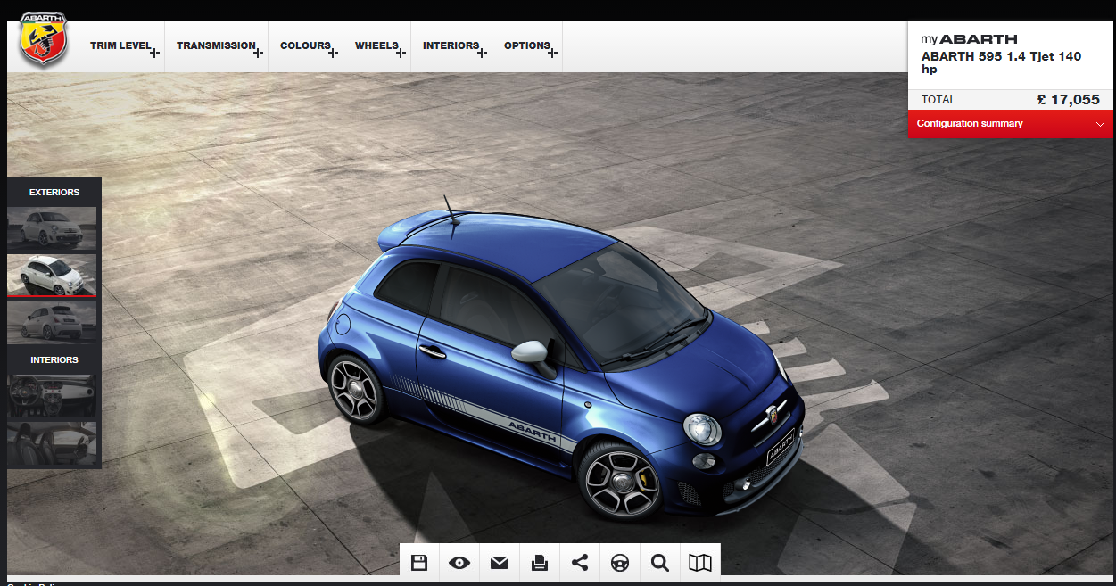 So Abarth Are Now Offering Podium Blue On The 595 I Think