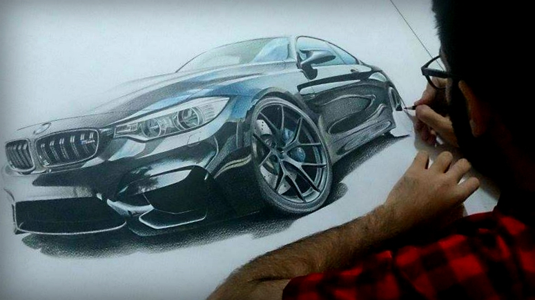 Bmw M4 Drawing Finally Complete