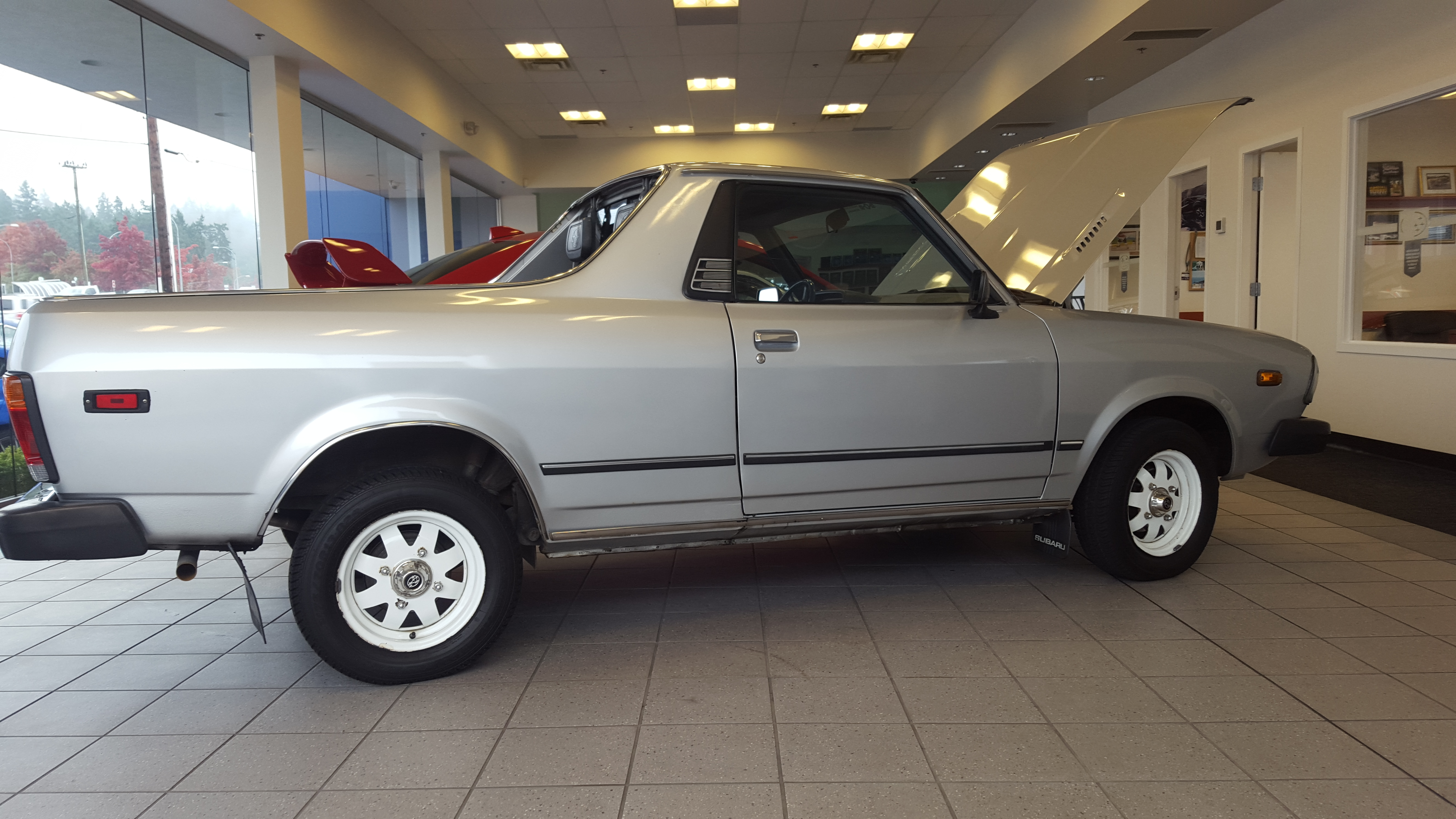 Mint Subaru Brat at the local dealership The car is grandfathered