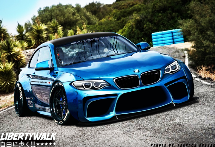 Bmw M2 Liberty Walk Edition Render By Brandon Rusnak