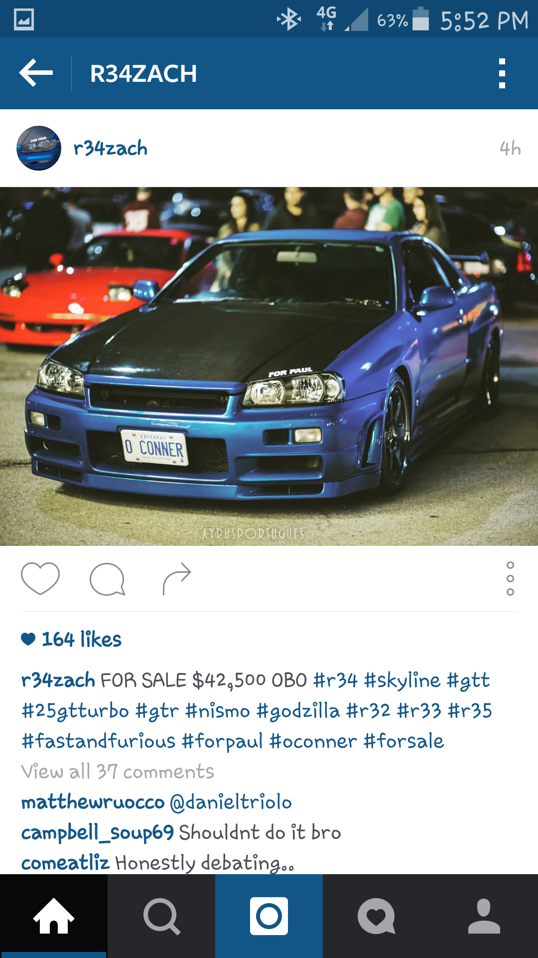 My Friend Zach Is Selling His R34 Skyline He Ll Arrange Shipping To Anywhere In Canada
