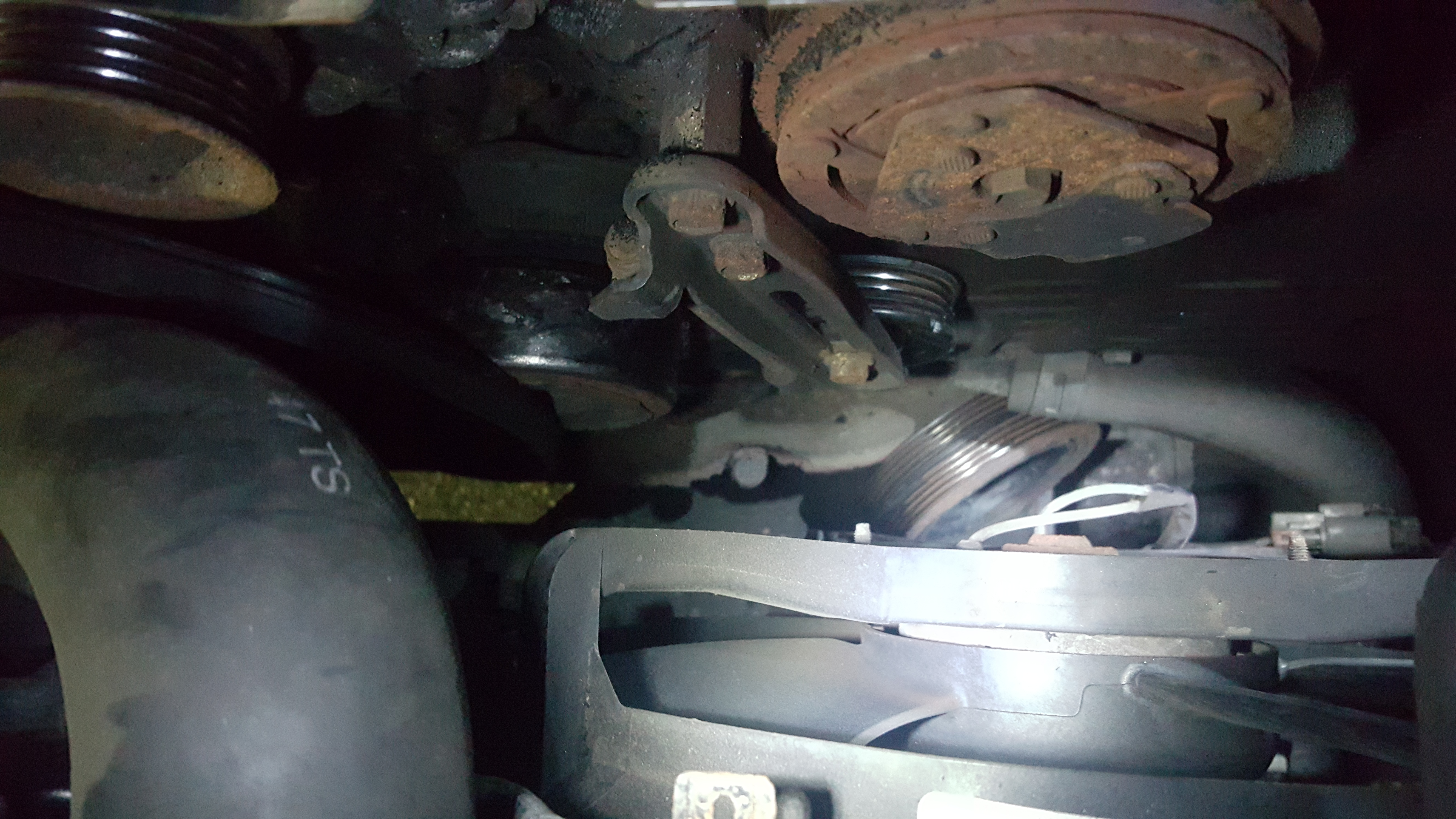 Okay so i think my crankshaft pulley broke off and it ate for Mercedes benz serpentine belt replacement cost