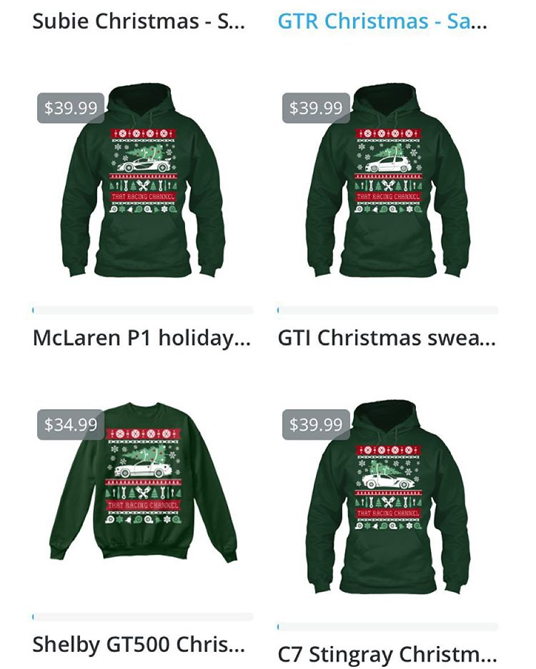 Ugly Christmas Sweaters now offered in many different cars to ...