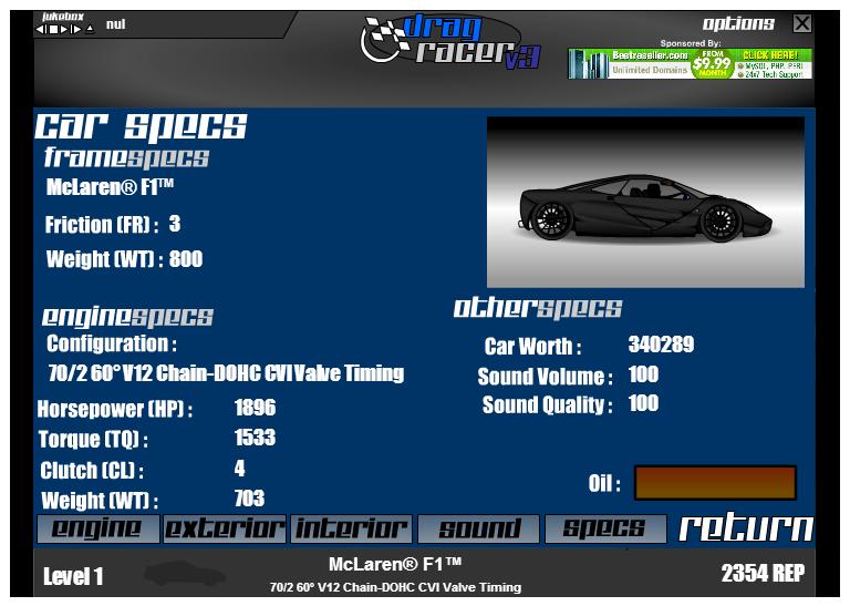 Anybody else play Drag Racer V3? If so, describe your car! Mine's a ...