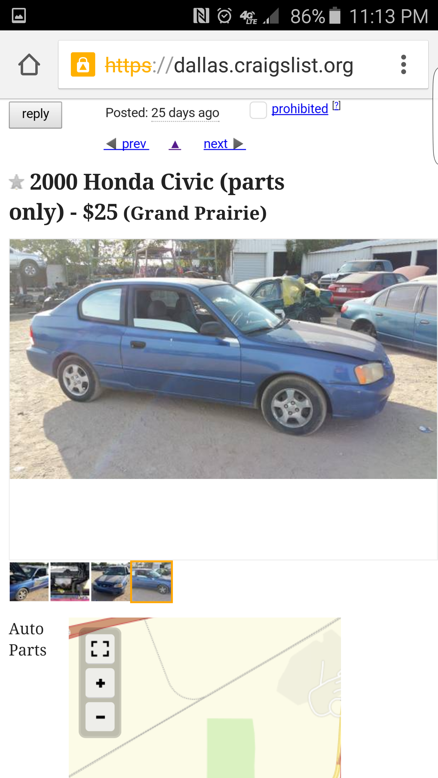 Honda civic for sale on craigslist lmao more pictures in the comments