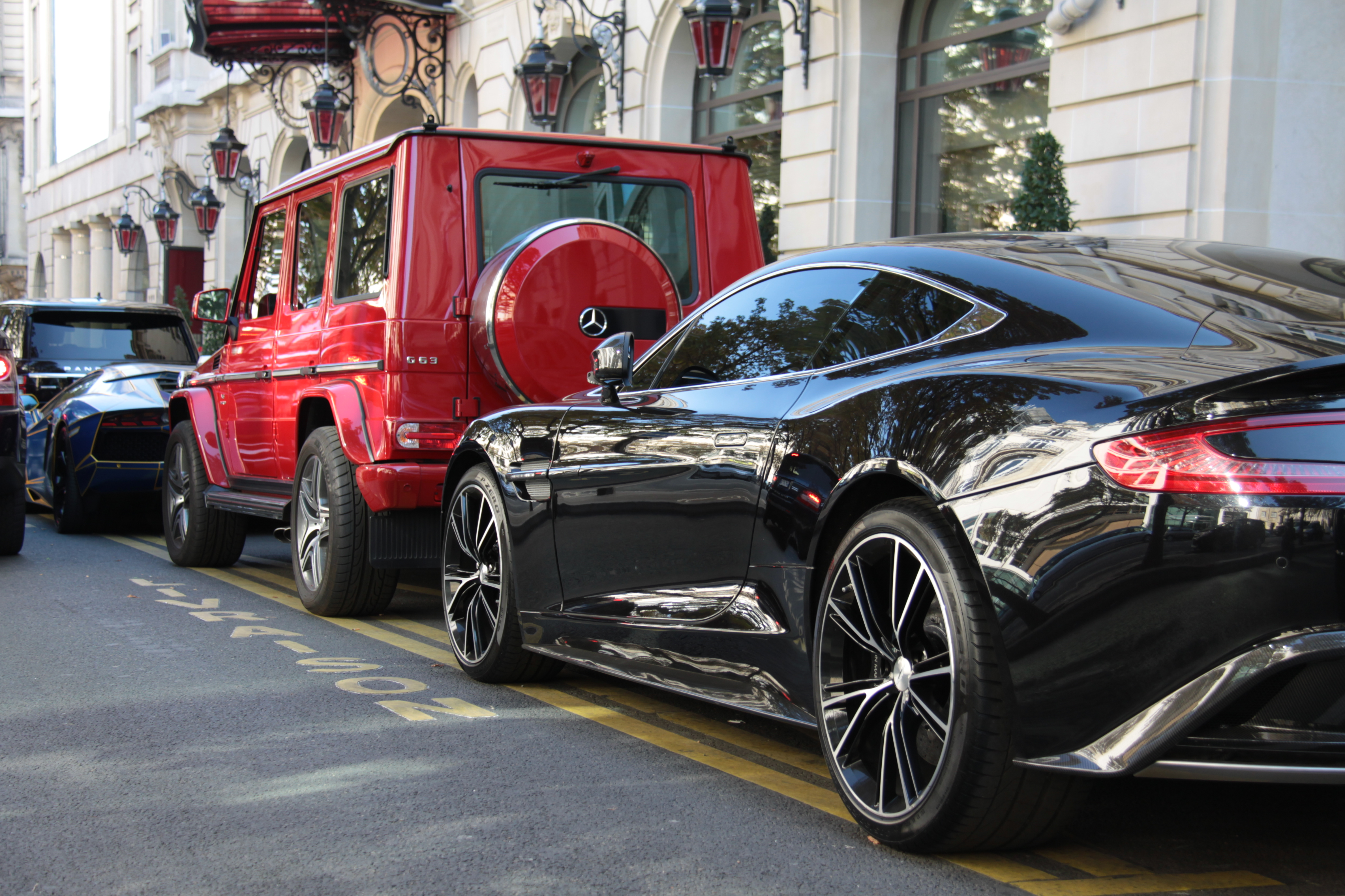 Line Up With A Perfect Vanquish A G Wagon And The Tron Aventador