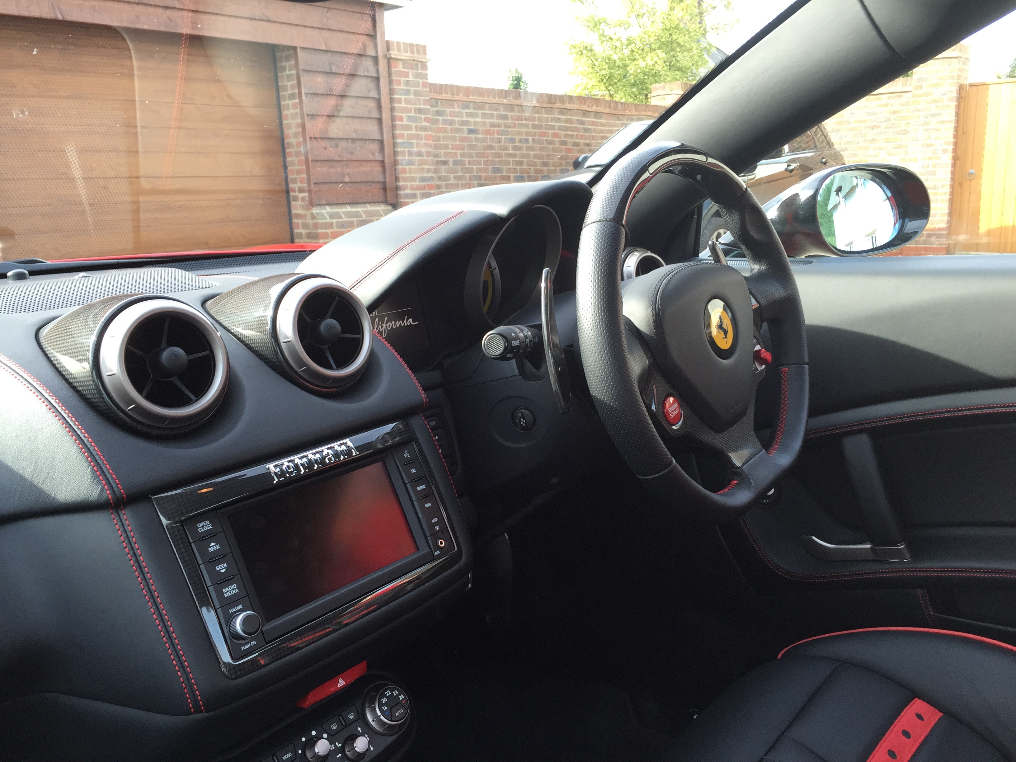 the interior of my Ferrari California :), black interior in my eyes ...