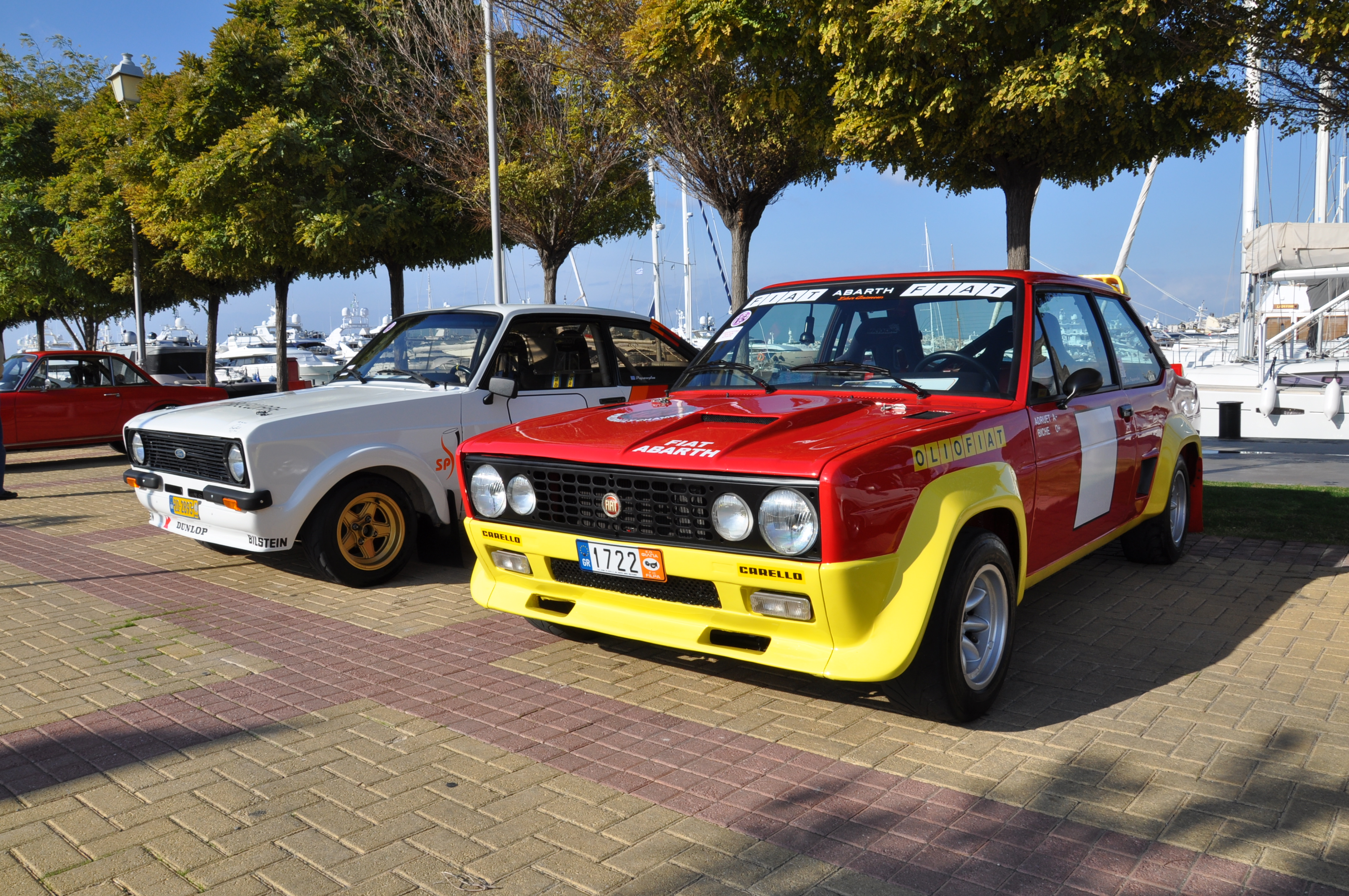 Fiat 131 Abarth and Ford Escort RS2000 Mk2 rally cars!