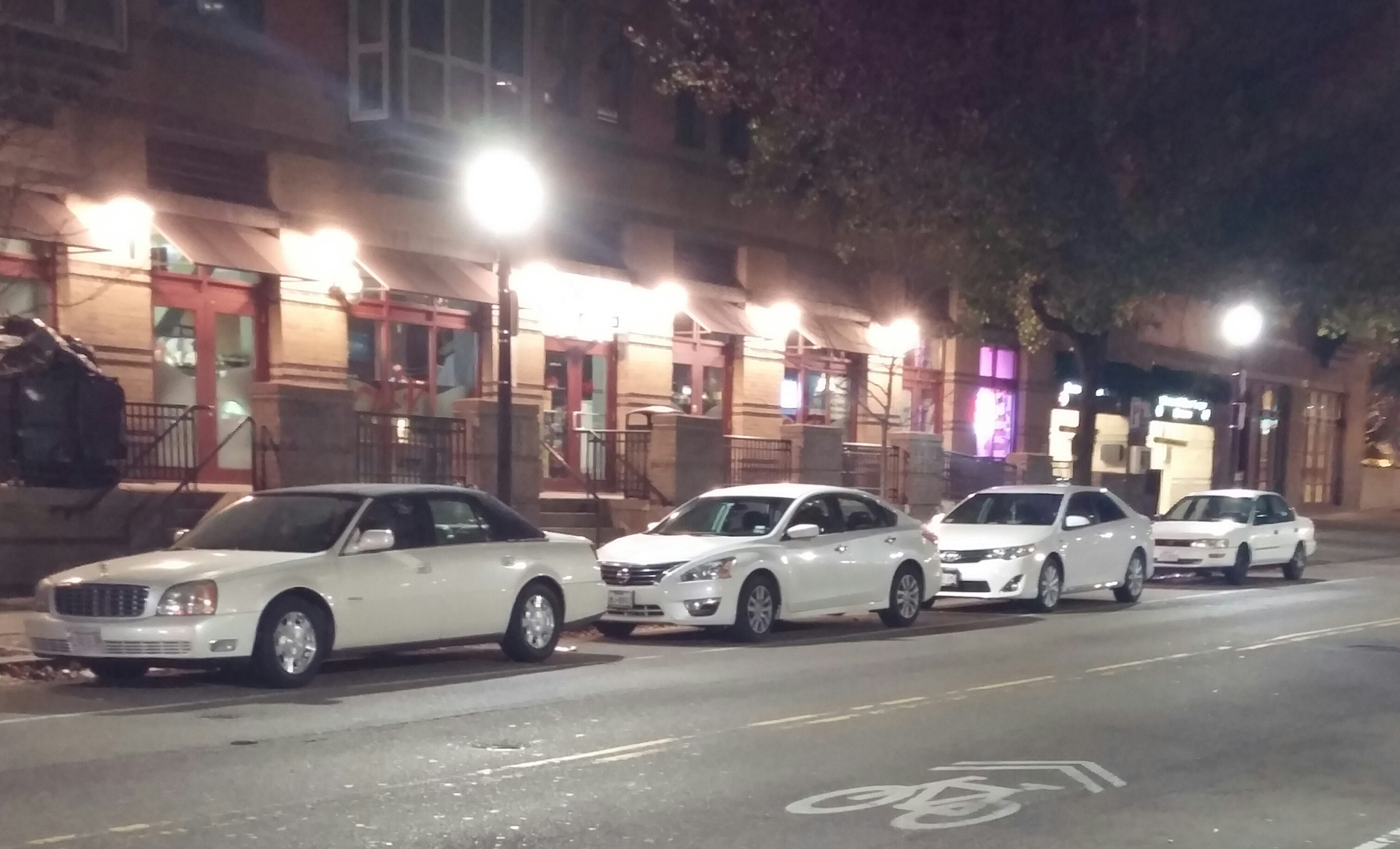 4 white cars in a row, so take your pick