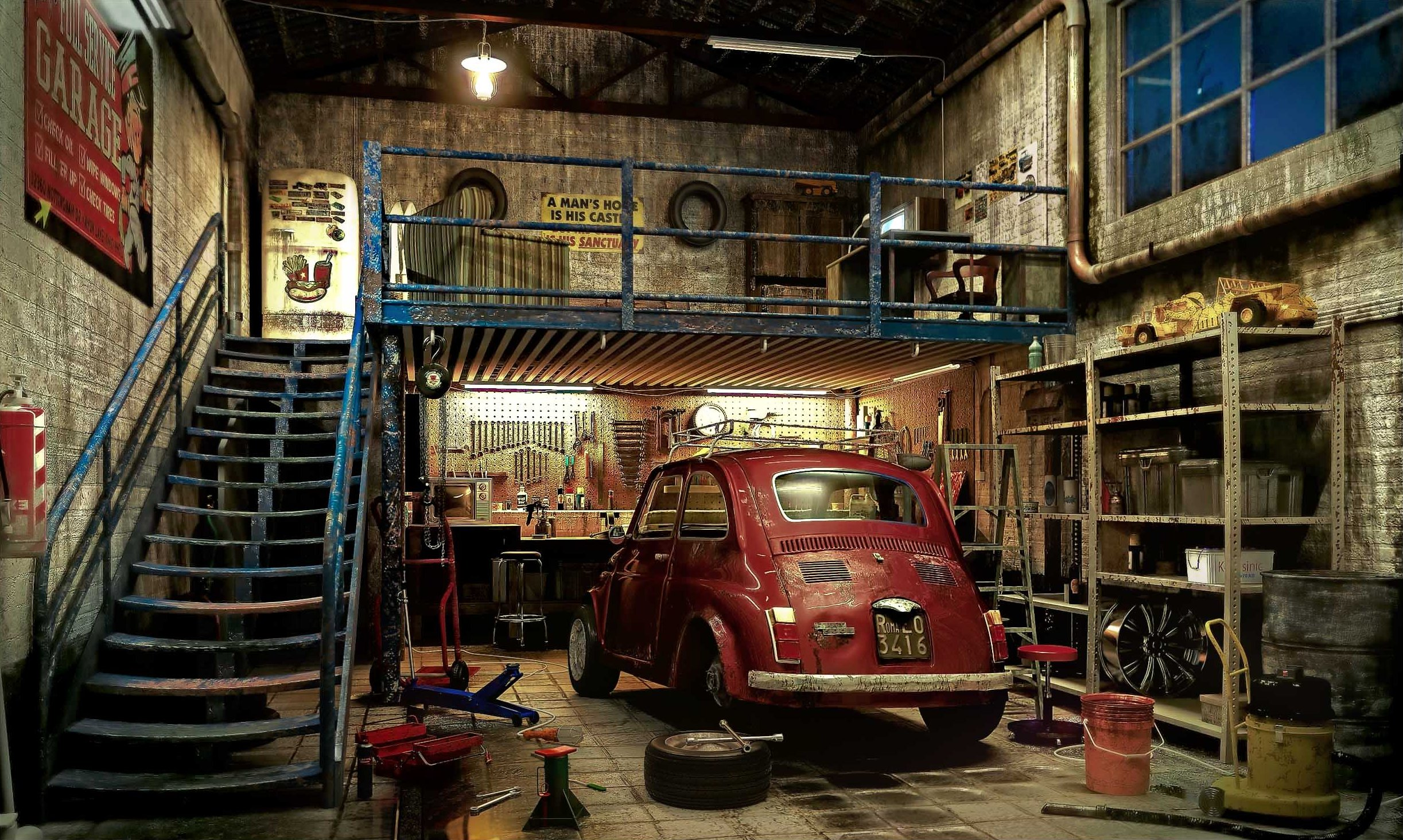 Putting cars aside what would your dream garage look like for Garage auto b2