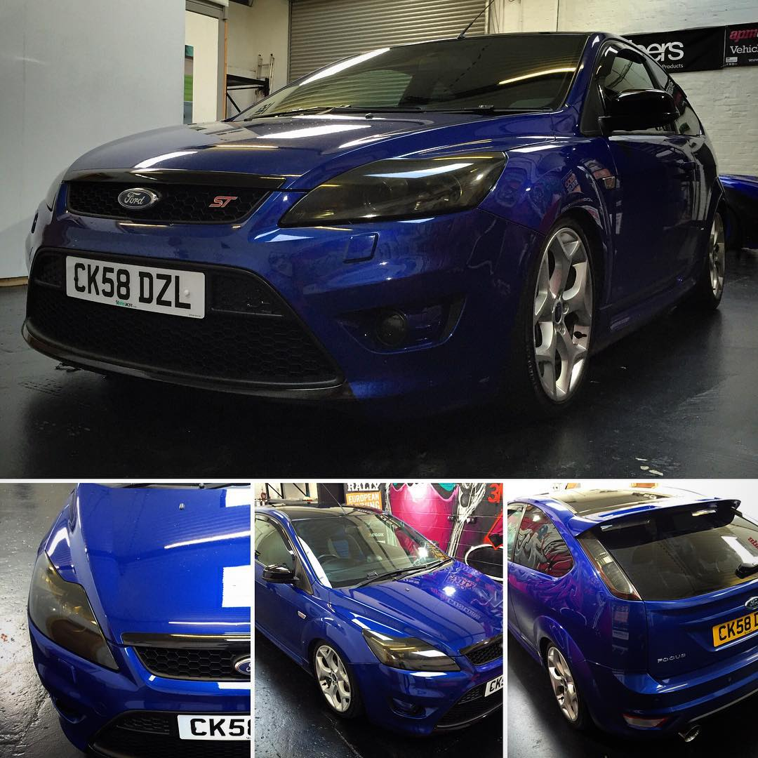 Ford Focus St In The Shop For Light Tints And Lower Grill Wrap In